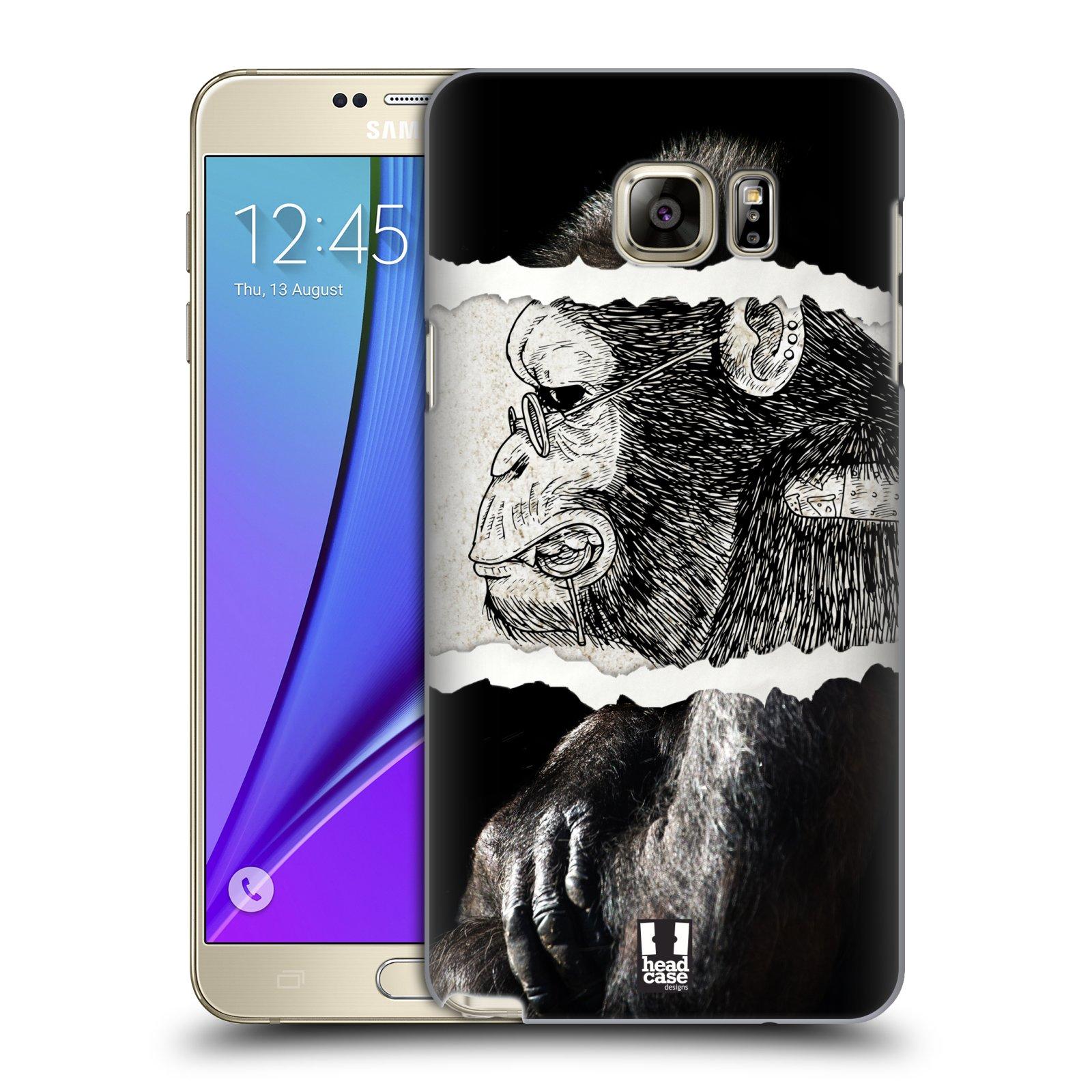 HEAD CASE plastový obal na mobil SAMSUNG Galaxy Note 5 (N920) vzor zvířata koláž opice