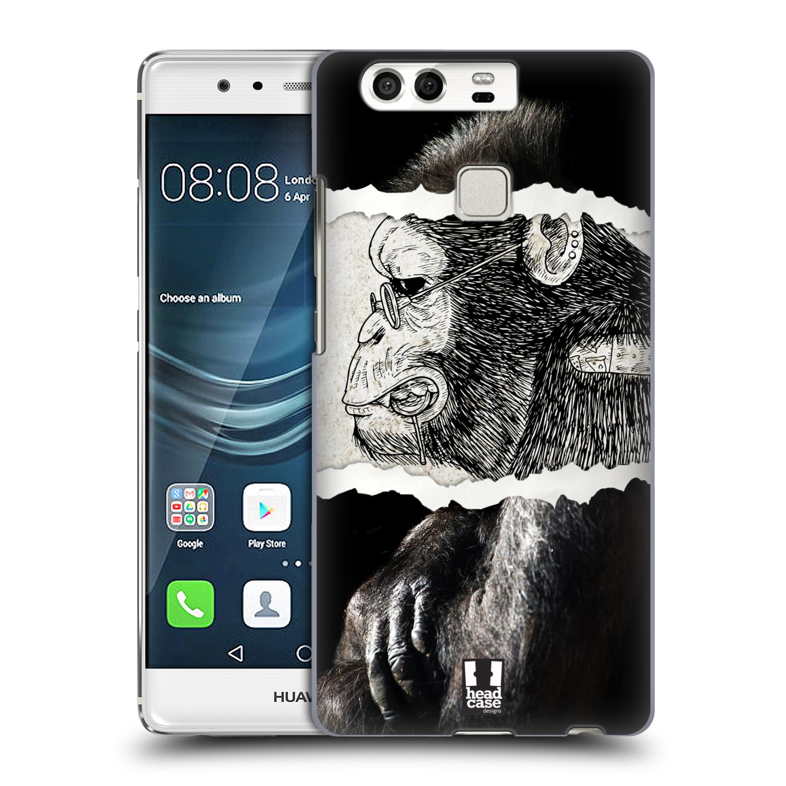 HEAD CASE plastový obal na mobil Huawei P9 / P9 DUAL SIM vzor zvířata koláž opice