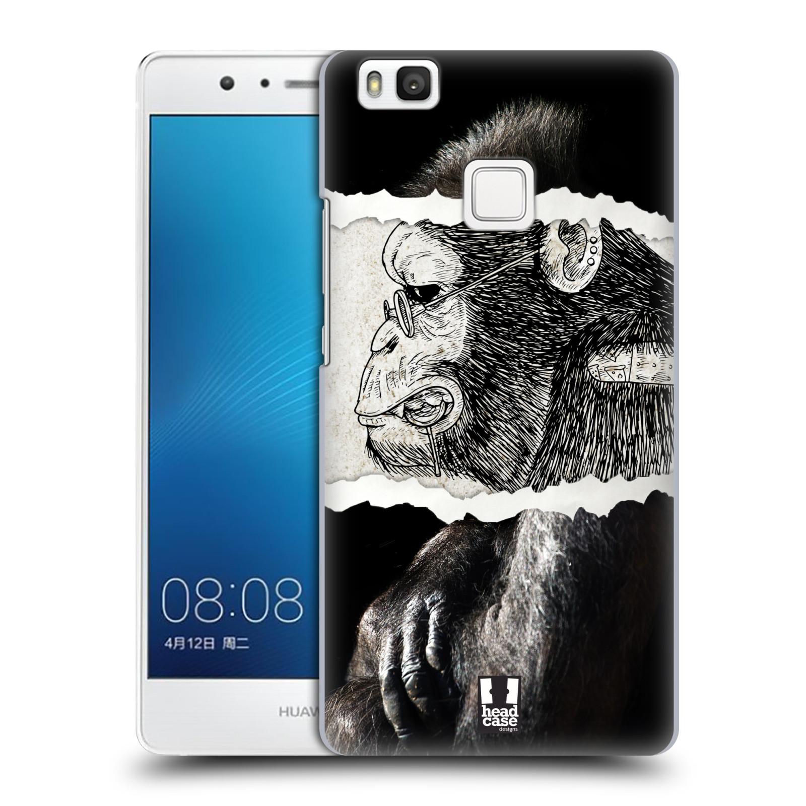 HEAD CASE plastový obal na mobil Huawei P9 LITE / P9 LITE DUAL SIM vzor zvířata koláž opice