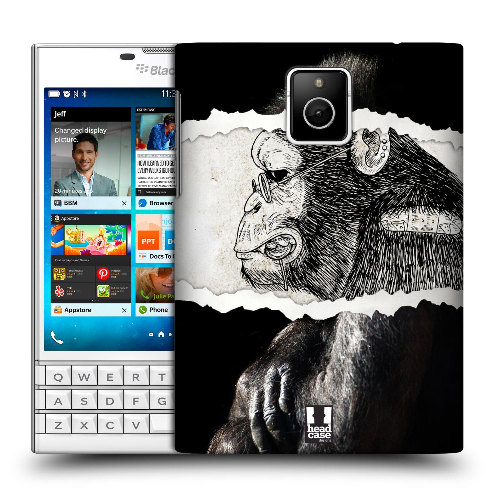 HEAD CASE plastový obal na mobil BlackBerry Passport vzor zvířata koláž opice