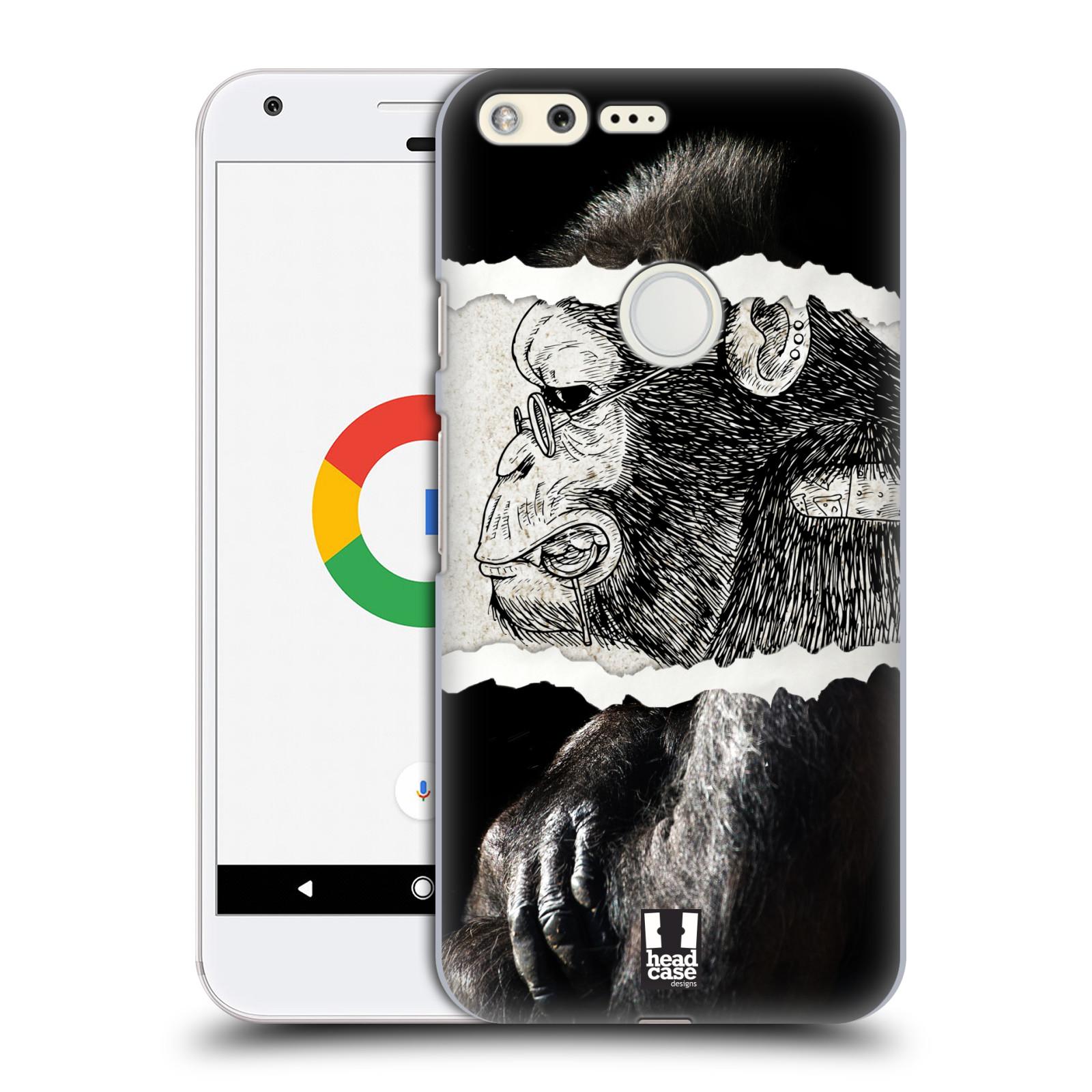 HEAD CASE plastový obal na mobil GOOGLE Pixel vzor zvířata koláž opice