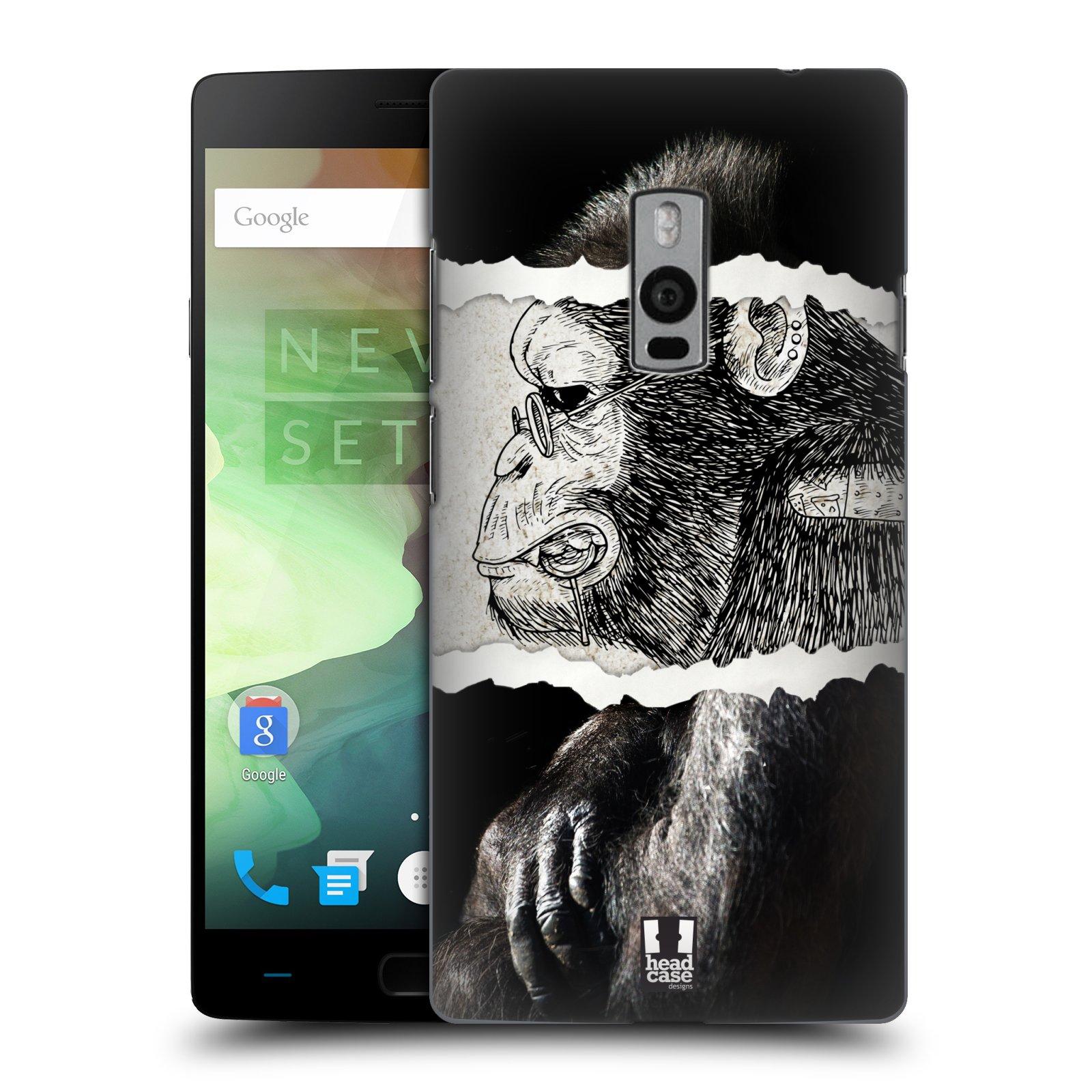 HEAD CASE pevný plastový obal na mobil OnePlus 2  ( TWO ) vzor zvířata koláž opice