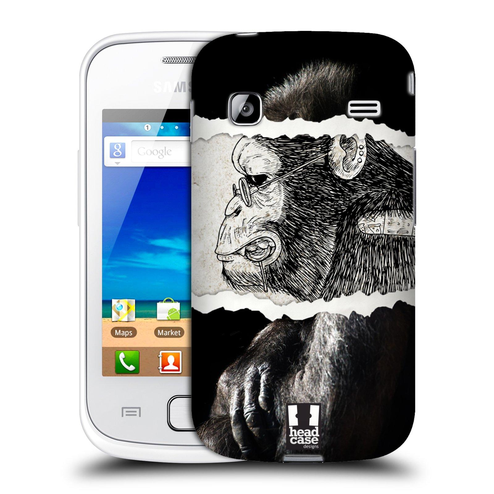 HEAD CASE plastový obal na mobil SAMSUNG GALAXY GIO (S5660) vzor zvířata koláž opice