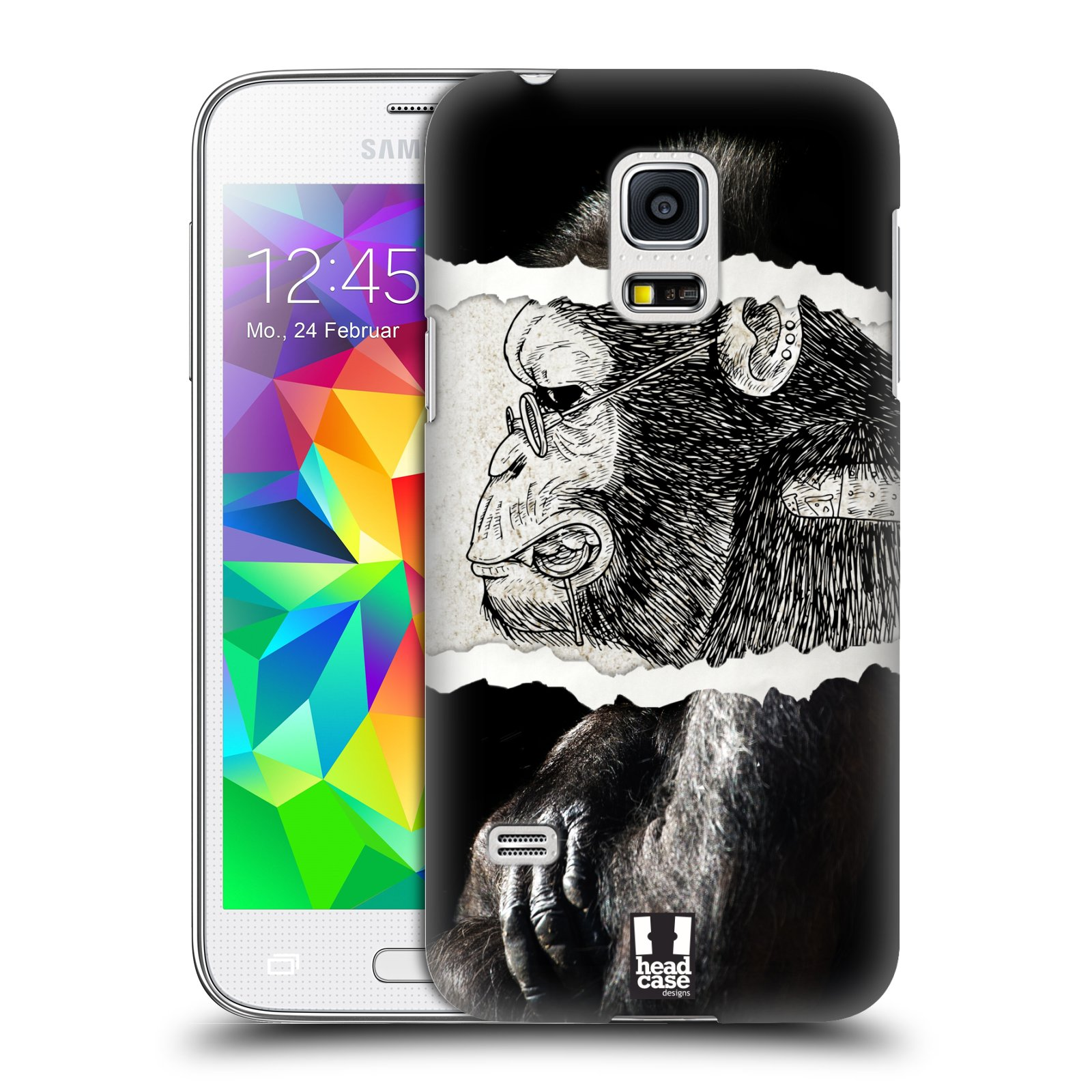 HEAD CASE plastový obal na mobil SAMSUNG Galaxy S5 MINI / S5 MINI DUOS vzor zvířata koláž opice