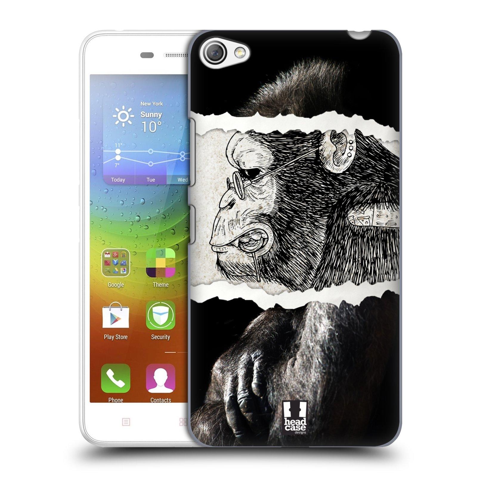 HEAD CASE pevný plastový obal na mobil LENOVO S60 / LENOVO S60 DUAL SIM vzor zvířata koláž opice