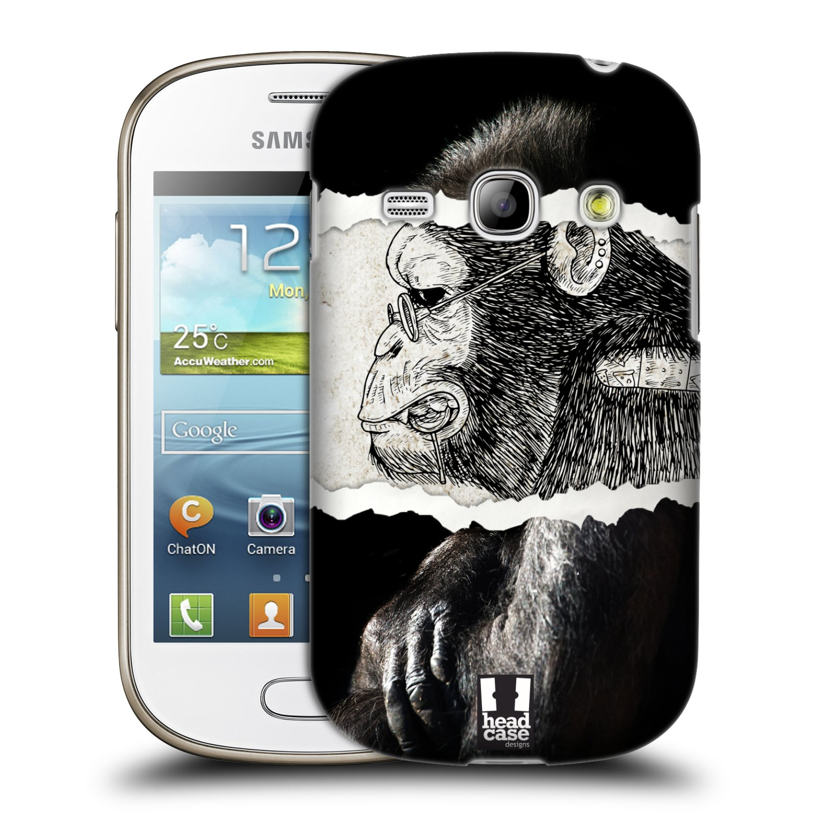 HEAD CASE plastový obal na mobil SAMSUNG GALAXY FAME (S6810) vzor zvířata koláž opice