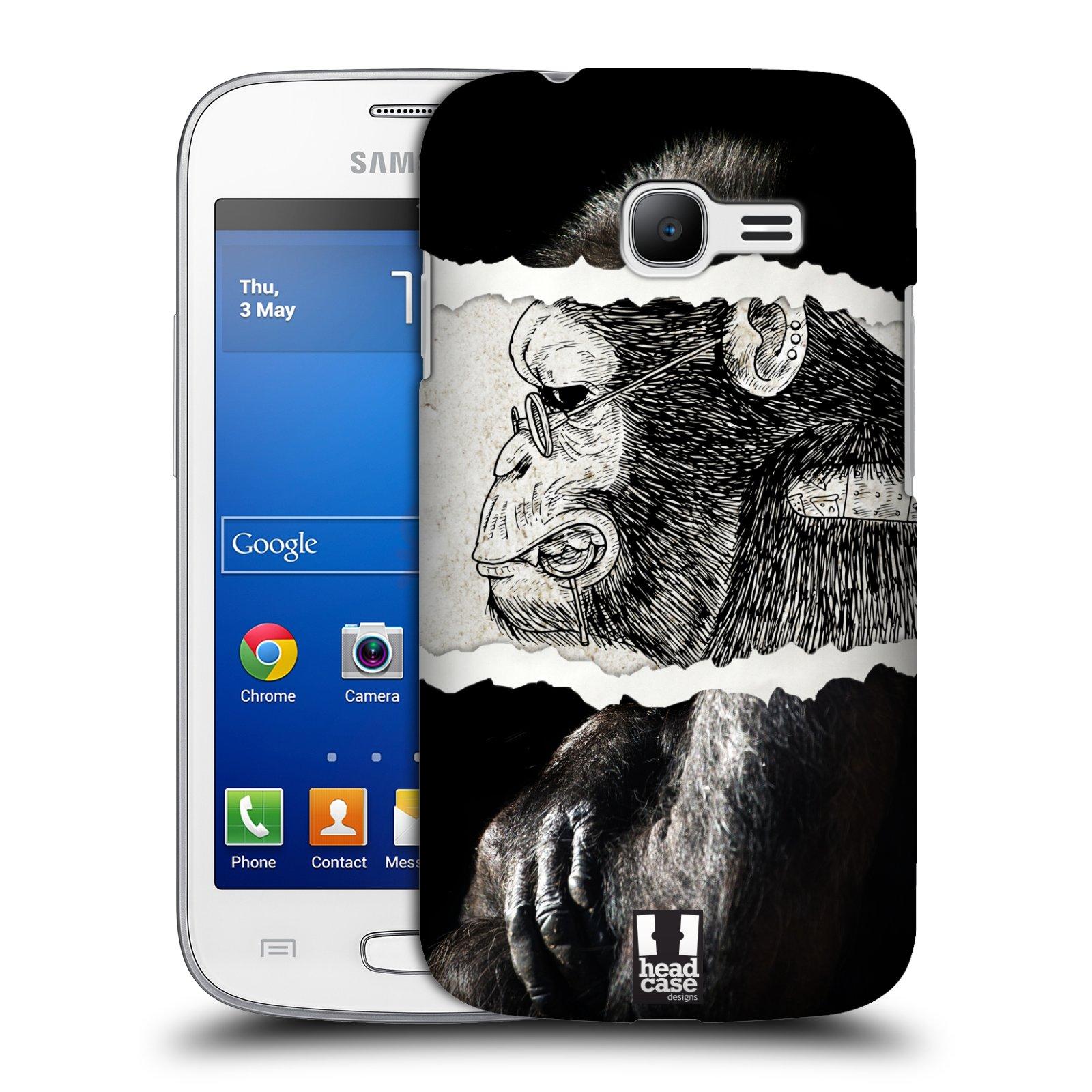 HEAD CASE plastový obal na mobil SAMSUNG GALAXY Star Pro S7260/S7262 DUOS vzor zvířata koláž opice