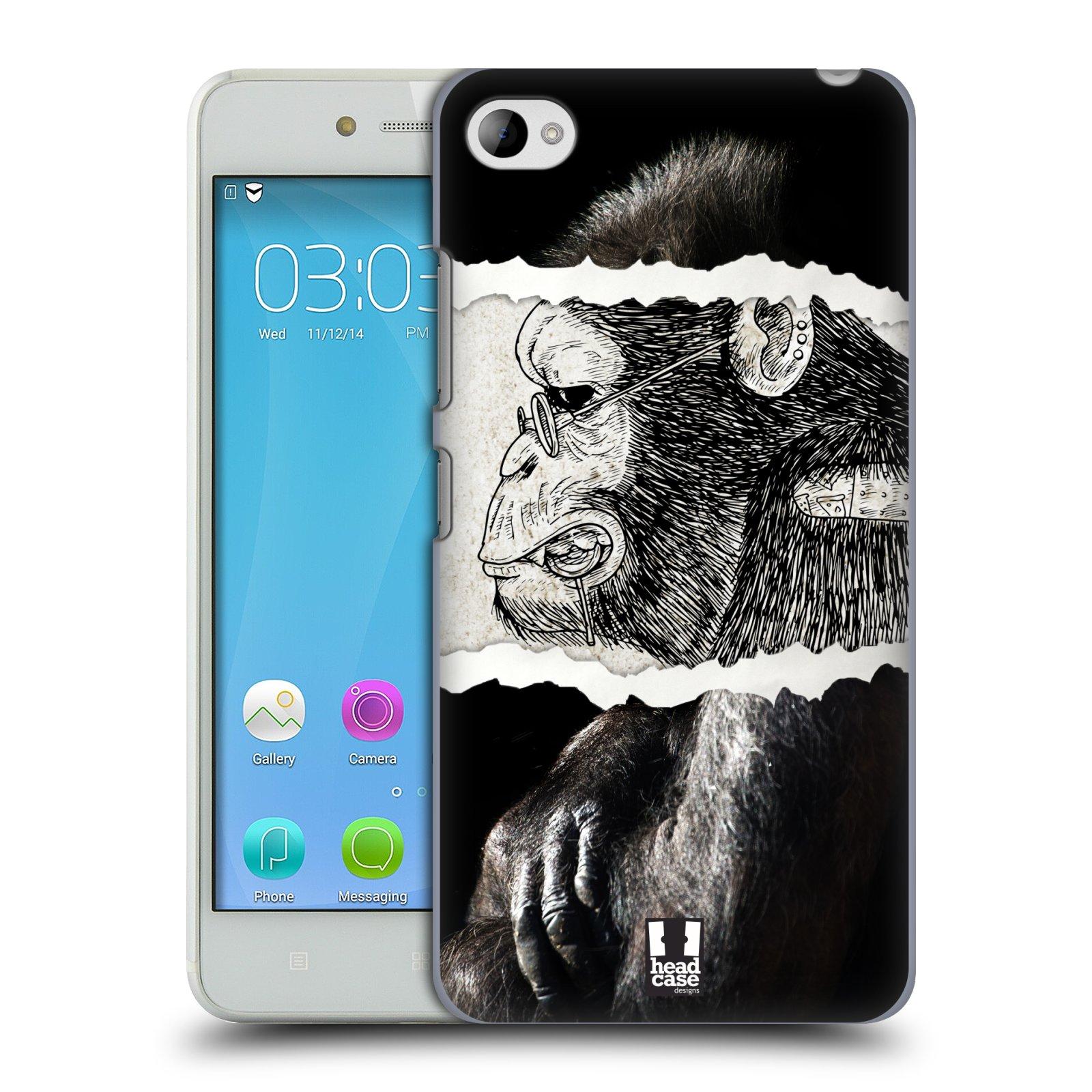 HEAD CASE pevný plastový obal na mobil LENOVO S90 vzor zvířata koláž opice