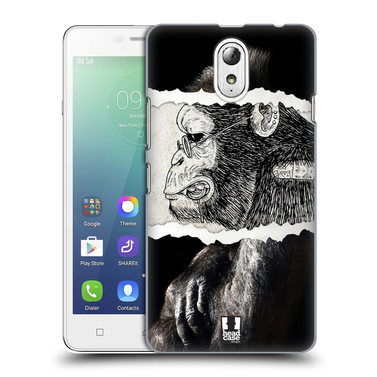 HEAD CASE pevný plastový obal na mobil LENOVO VIBE P1m / LENOVO VIBE p1m DUAL SIM vzor zvířata koláž opice