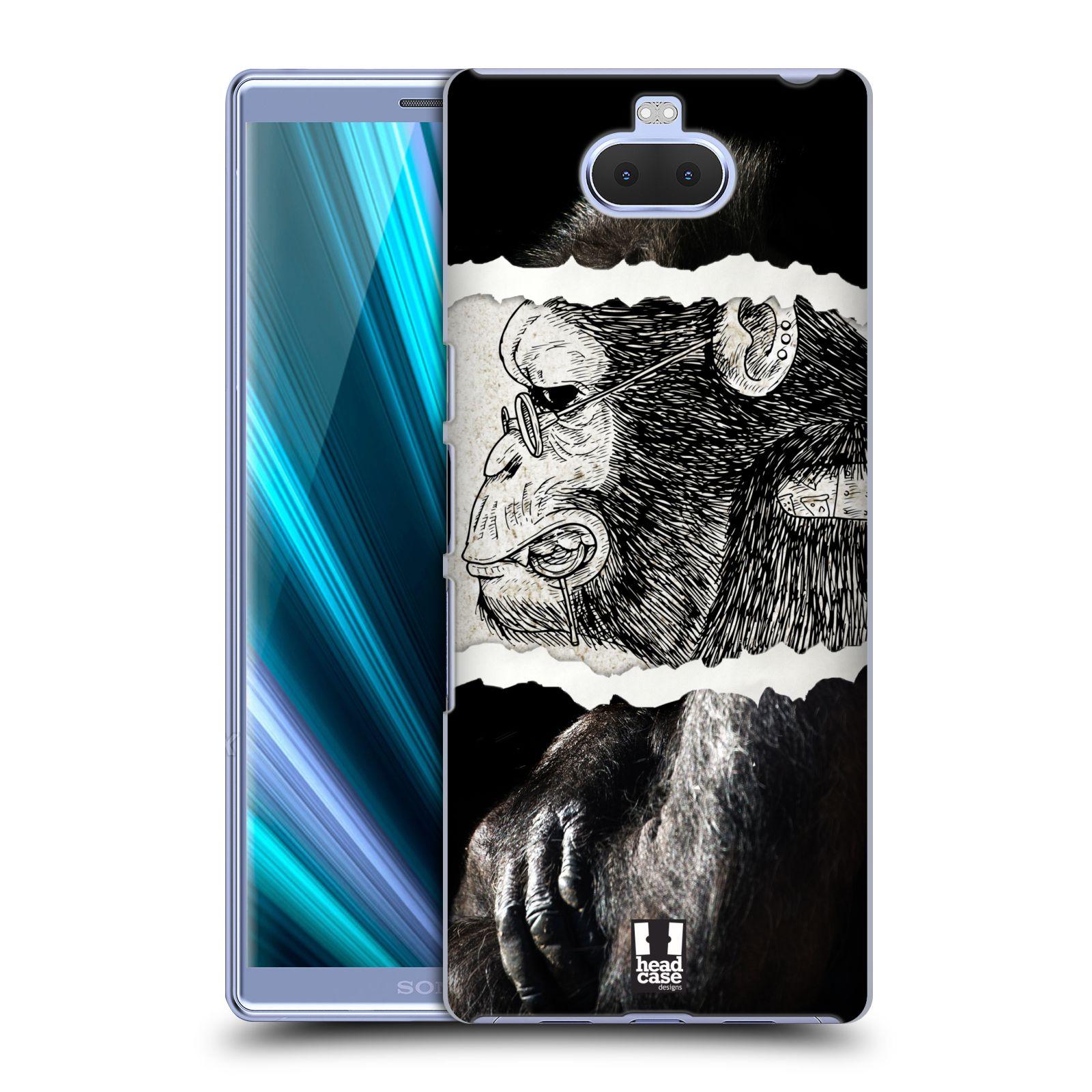 Pouzdro na mobil Sony Xperia 10 - Head Case - vzor zvířata koláž opice