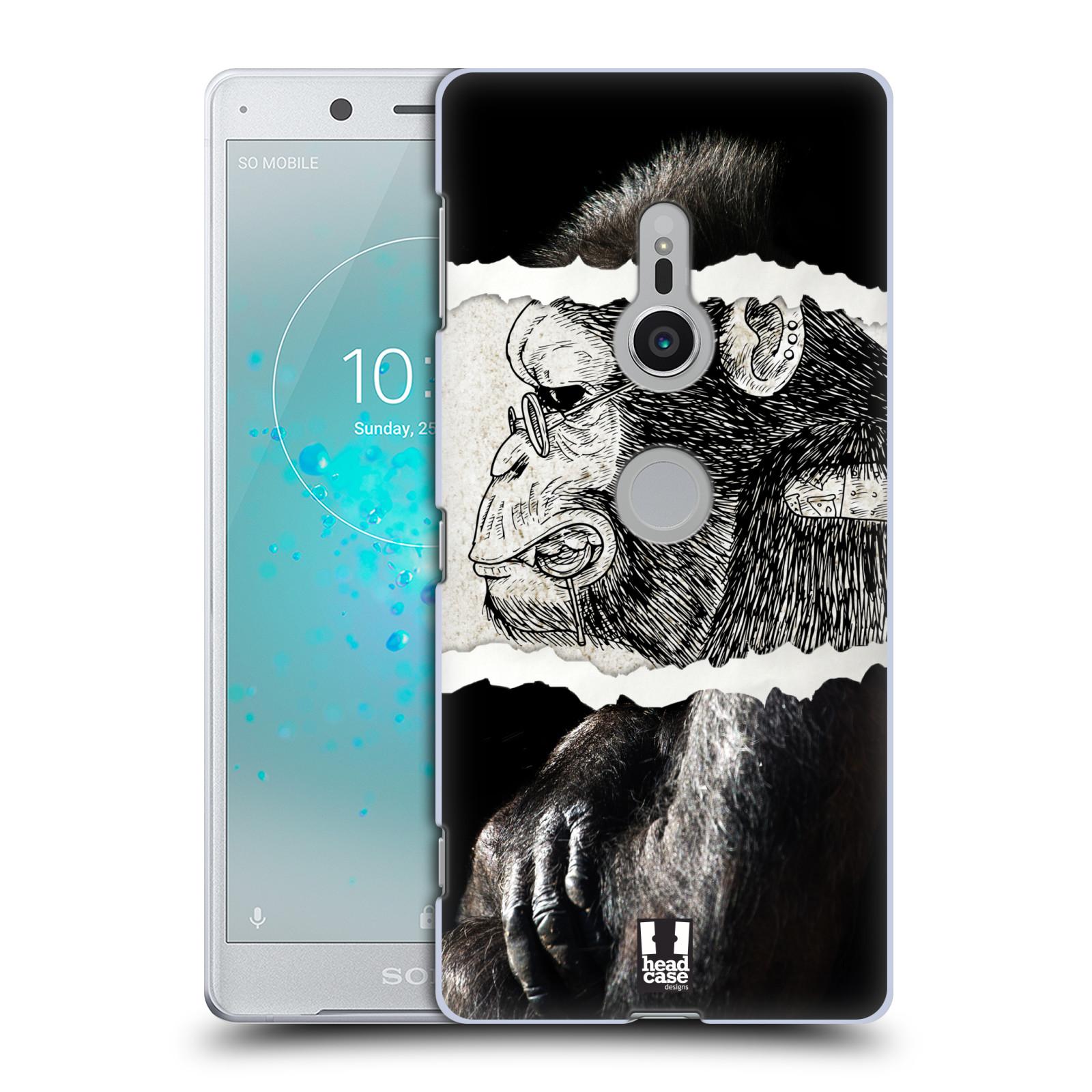 HEAD CASE plastový obal na mobil Sony Xperia XZ2 vzor zvířata koláž opice