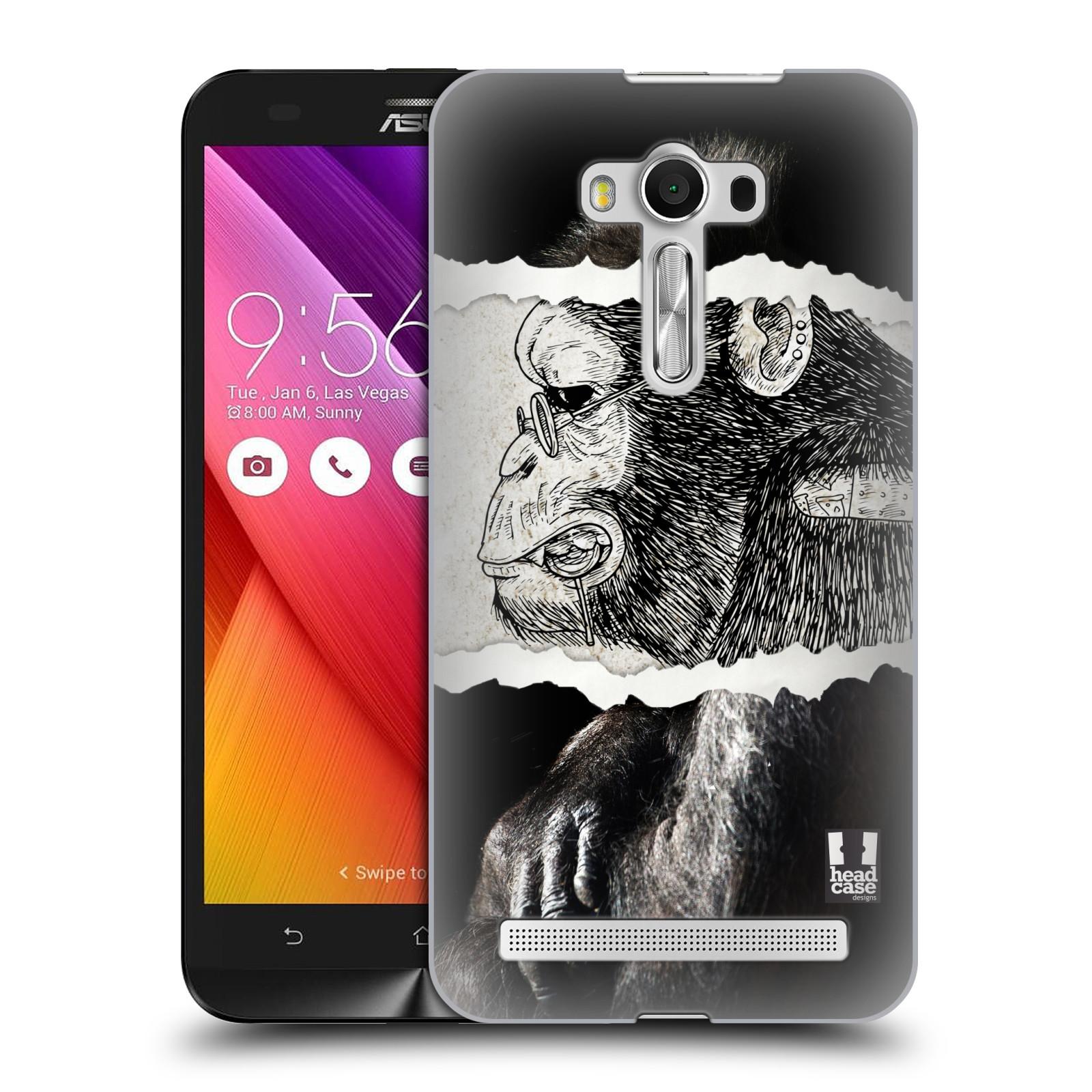 HEAD CASE plastový obal na mobil Asus Zenfone 2 LASER (5,5 displej ZE550KL) vzor zvířata koláž opice
