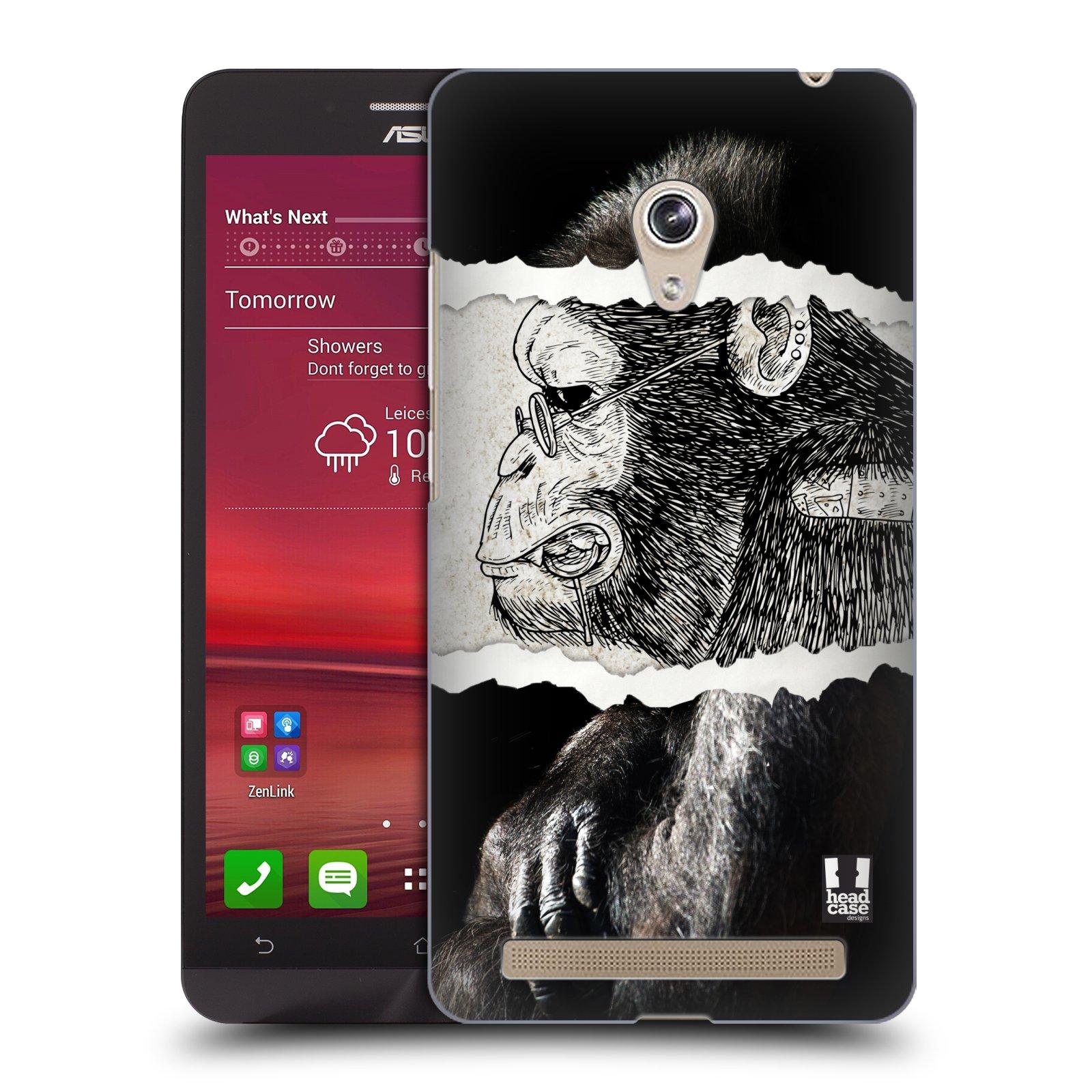 HEAD CASE plastový obal na mobil Asus Zenfone 6 vzor zvířata koláž opice
