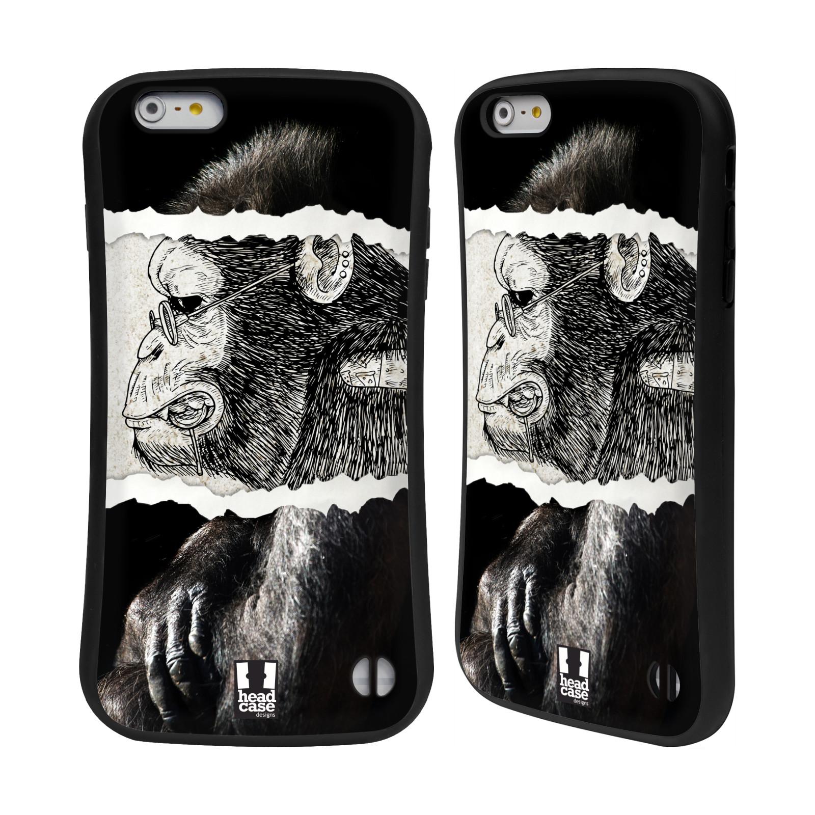 HEAD CASE silikon/plast odolný obal na mobil Apple Iphone 6 PLUS / 6S PLUS vzor zvířata koláž opice