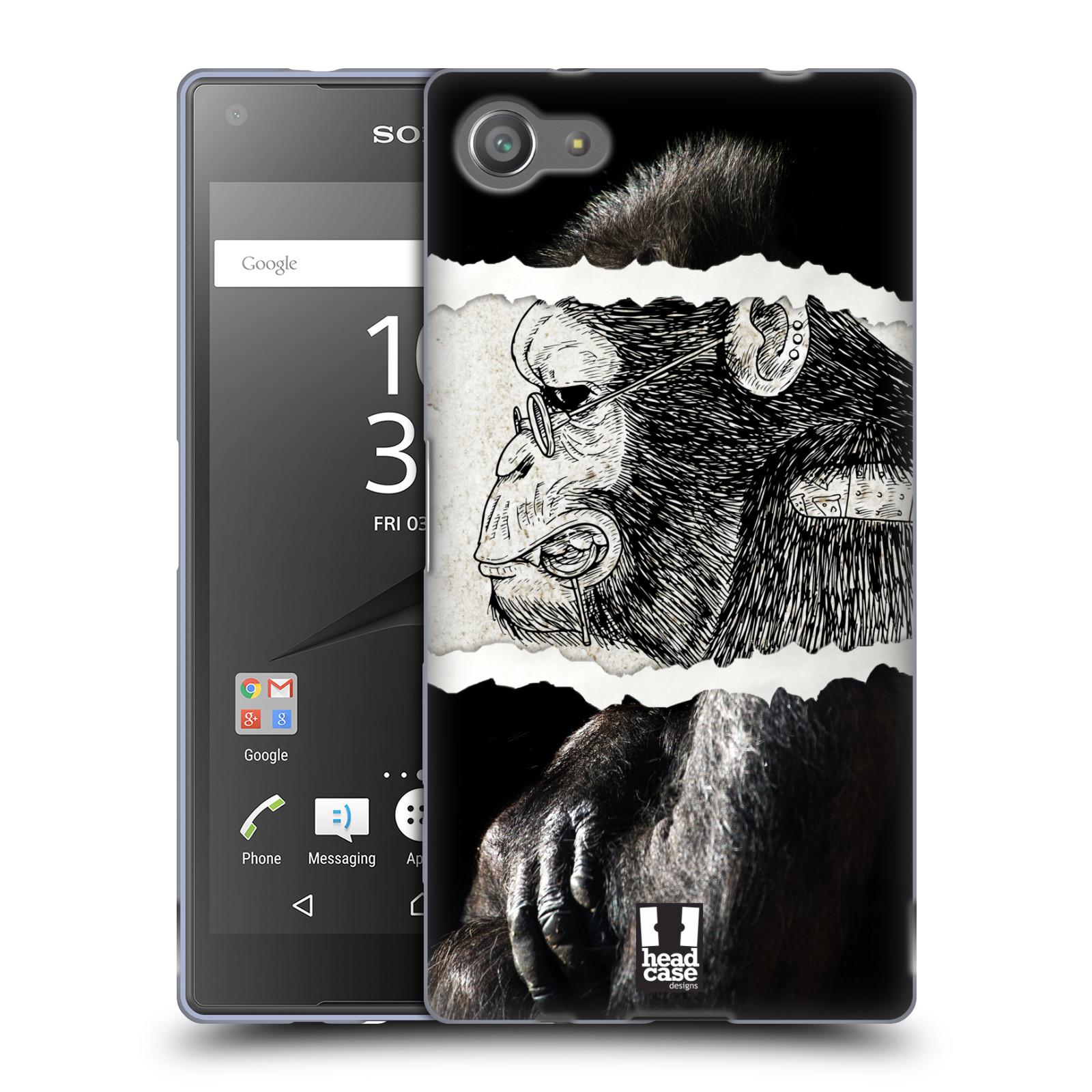 HEAD CASE silikonový obal na mobil Sony Xperia Z5 COMPACT vzor zvířata koláž opice