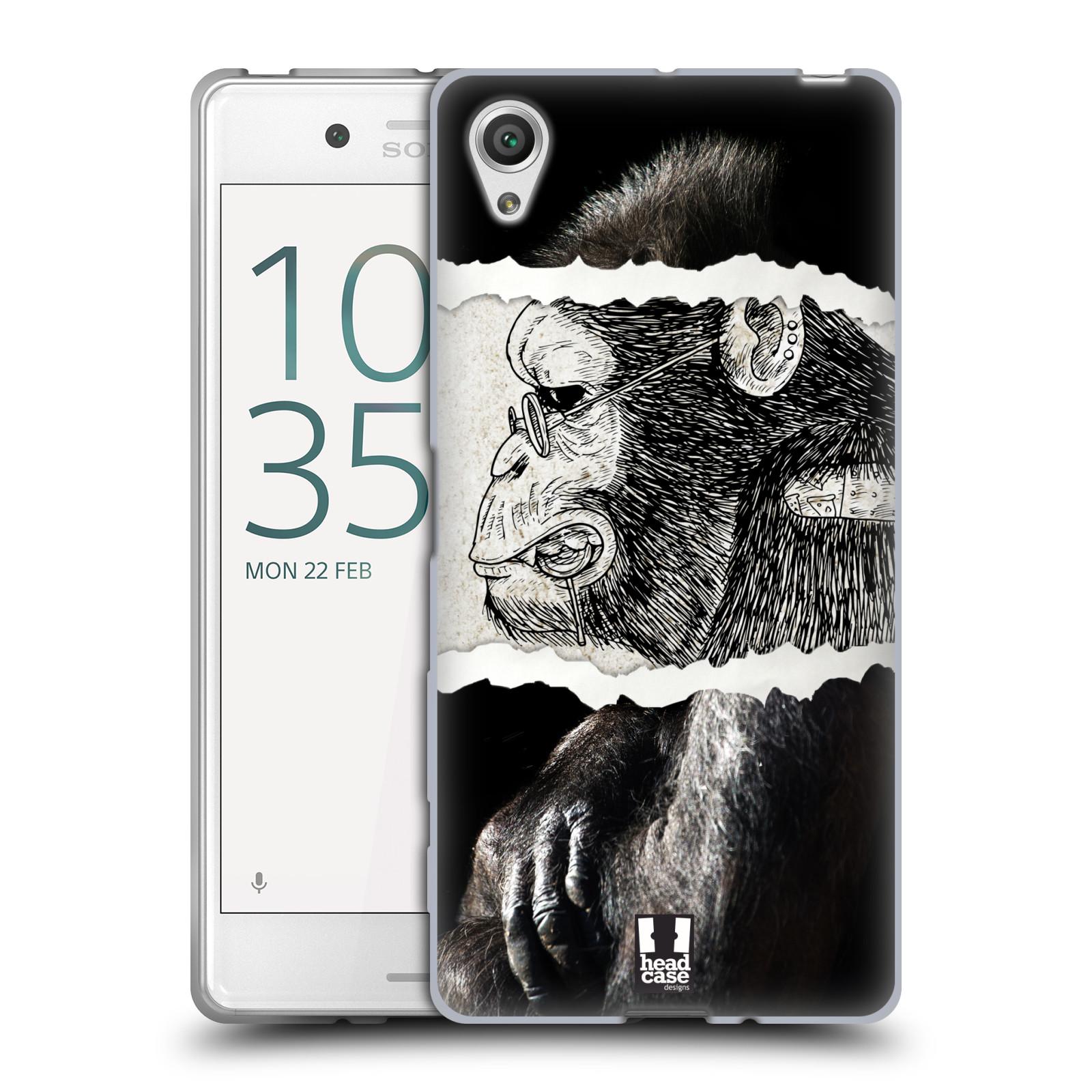 HEAD CASE silikonový obal na mobil Sony Xperia X / X DUAL vzor zvířata koláž opice