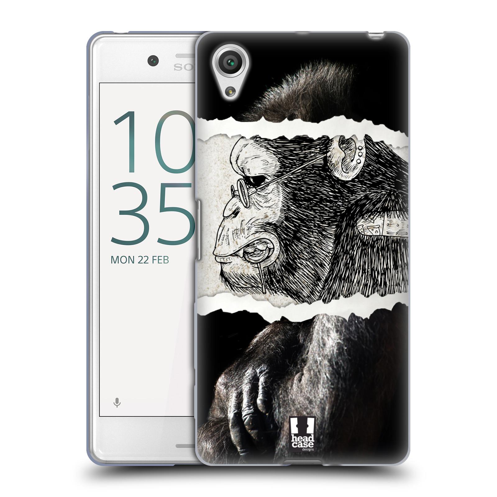 HEAD CASE silikonový obal na mobil Sony Xperia X PERFORMANCE (F8131, F8132) vzor zvířata koláž opice