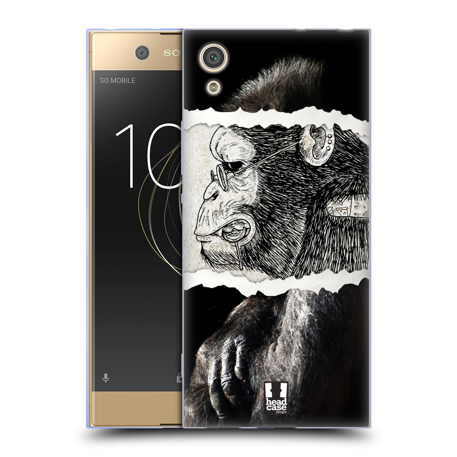 HEAD CASE silikonový obal na mobil Sony Xperia XA1 / XA1 DUAL SIM vzor zvířata koláž opice