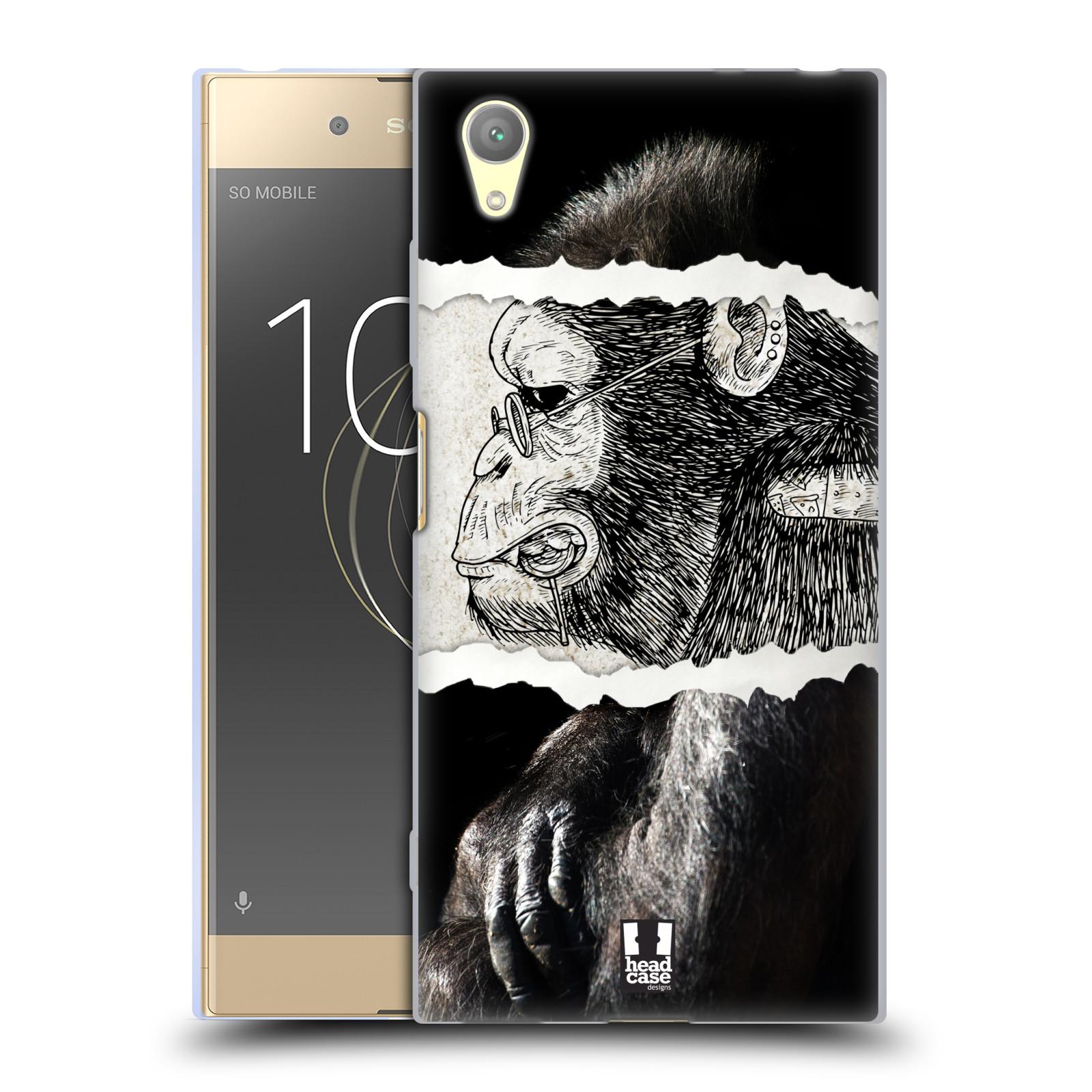 HEAD CASE silikonový obal na mobil Sony Xperia XA1 PLUS vzor zvířata koláž opice