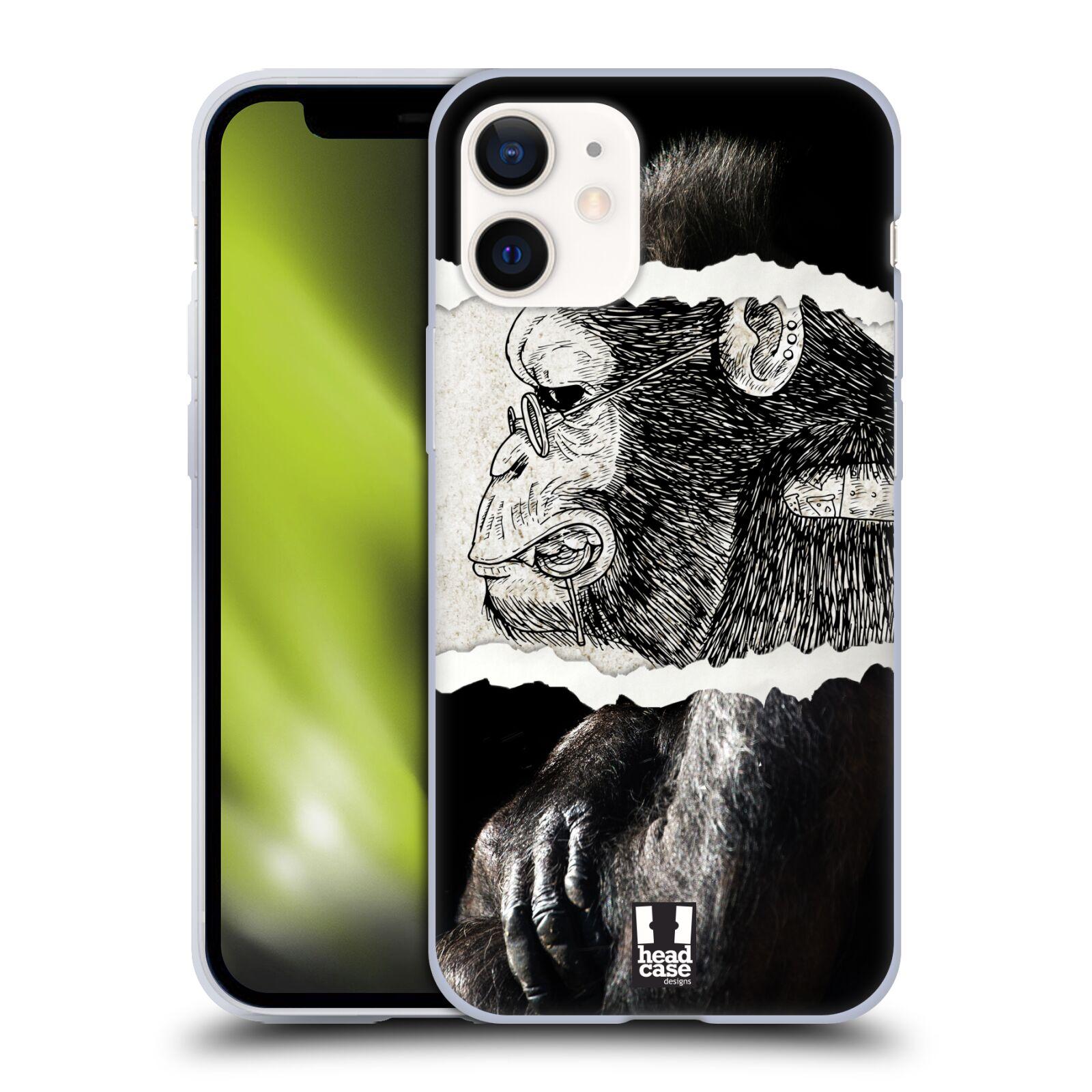 Plastový obal na mobil Apple Iphone 12 MINI vzor zvířata koláž opice