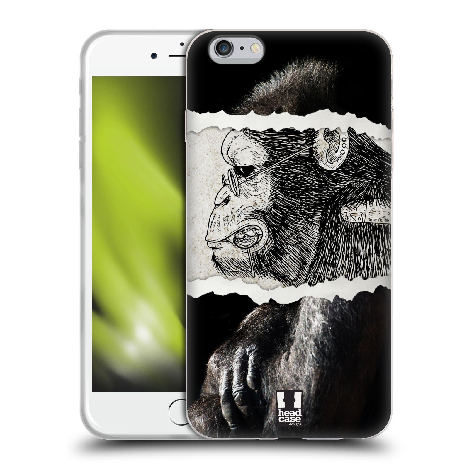 HEAD CASE silikonový obal na mobil Apple Iphone 6 PLUS/ 6S PLUS vzor zvířata koláž opice