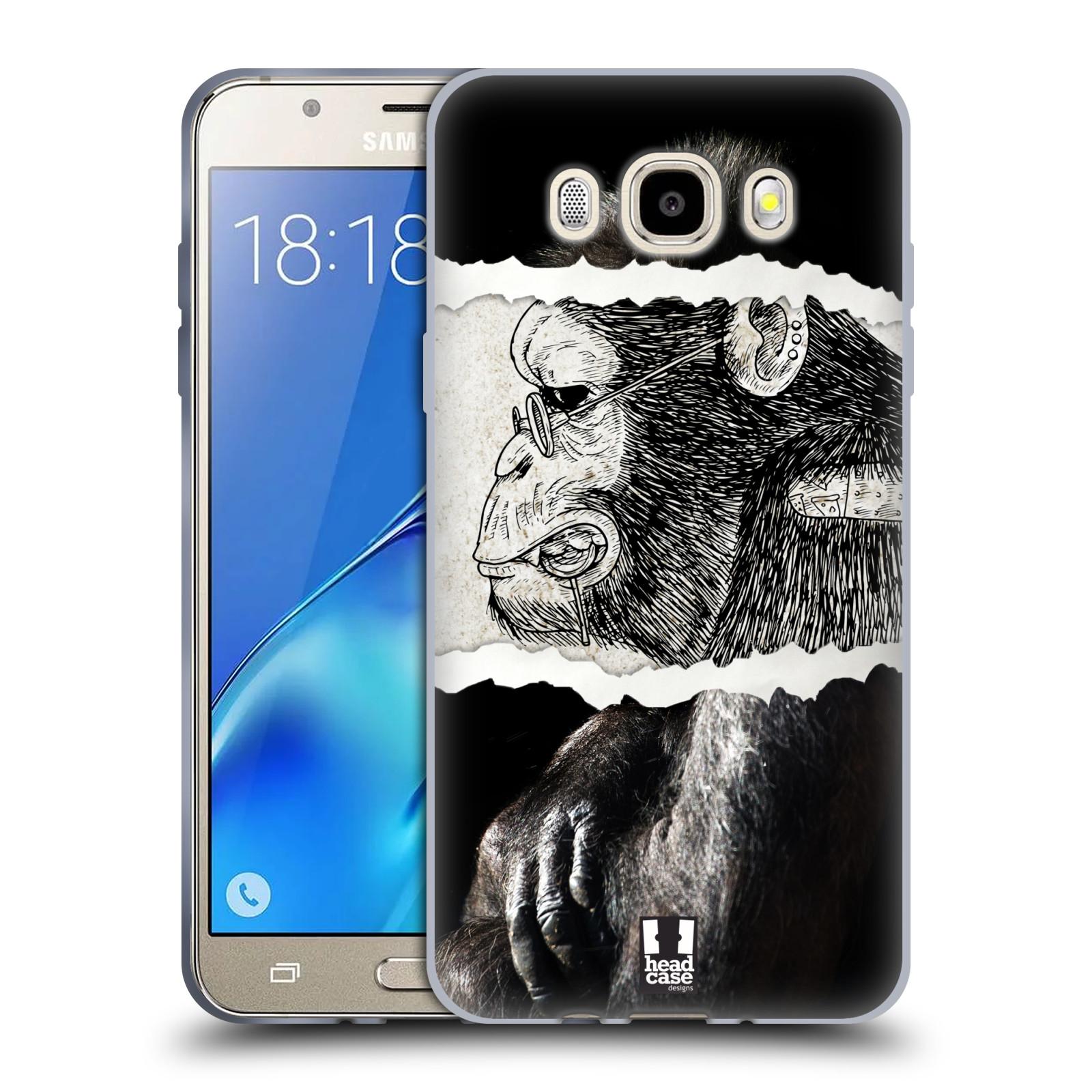HEAD CASE silikonový obal, kryt na mobil Samsung Galaxy J5 2016, J510, J510F, (J510F DUAL SIM) vzor zvířata koláž opice