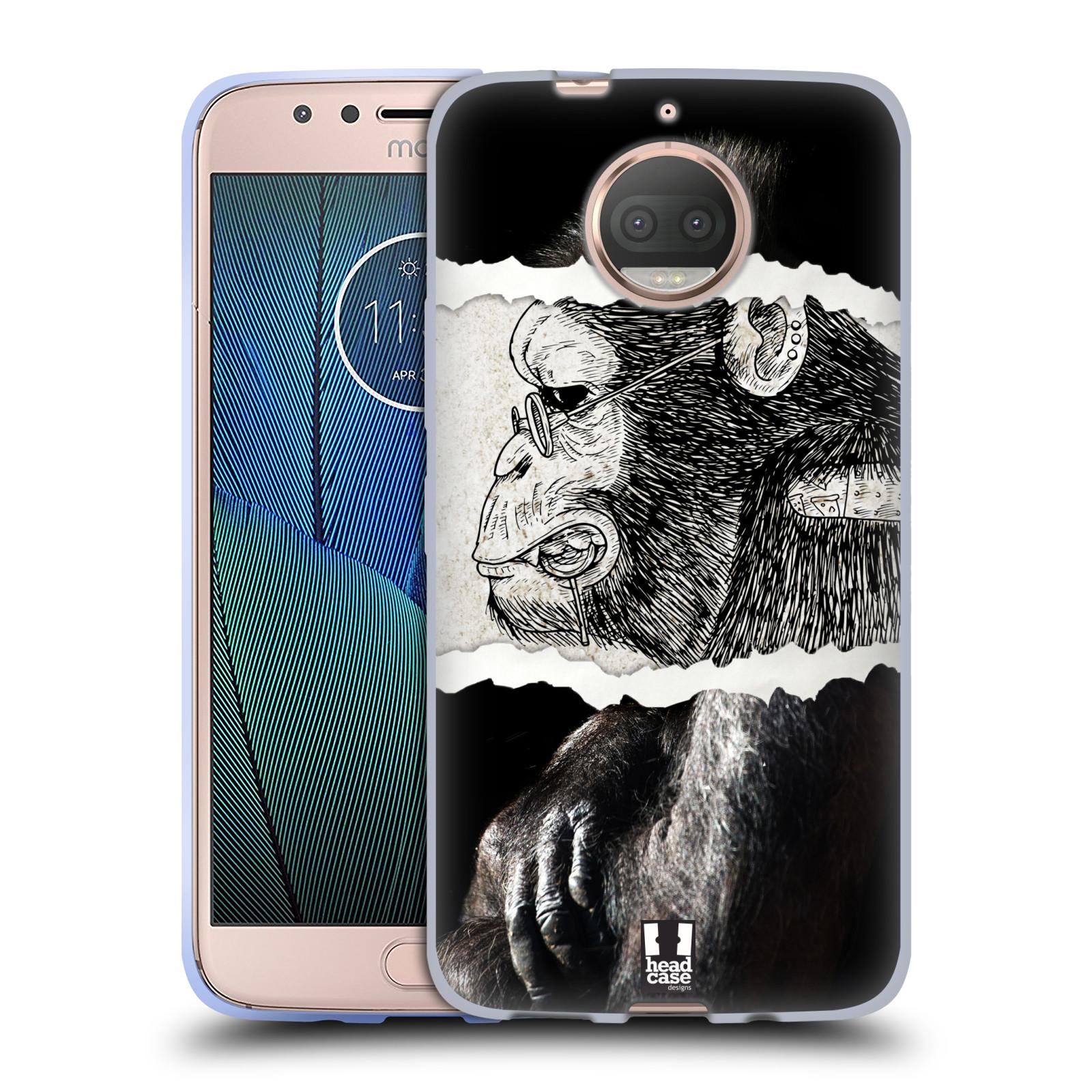 HEAD CASE silikonový obal na mobil Lenovo Moto G5s PLUS vzor zvířata koláž opice