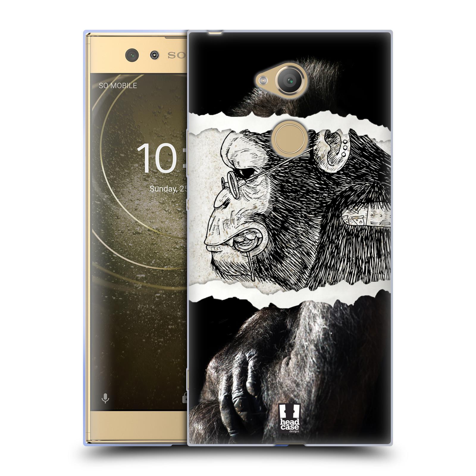 Pouzdro na mobil Sony Xperia XA2 Ultra vzor zvířata koláž opice