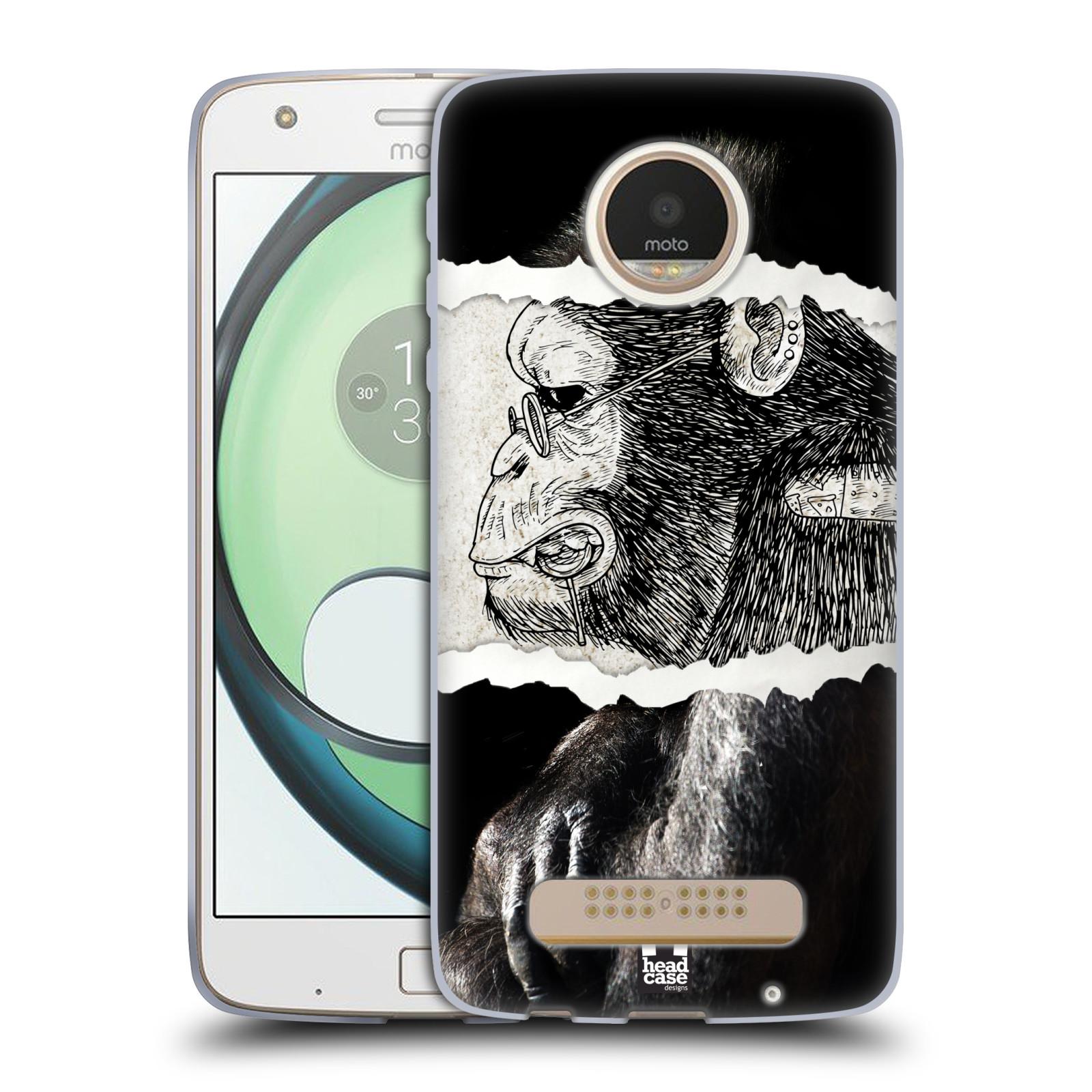 22d68b94e HEAD CASE silikonový obal na mobil Lenovo Moto Z Play vzor zvířata koláž  opice