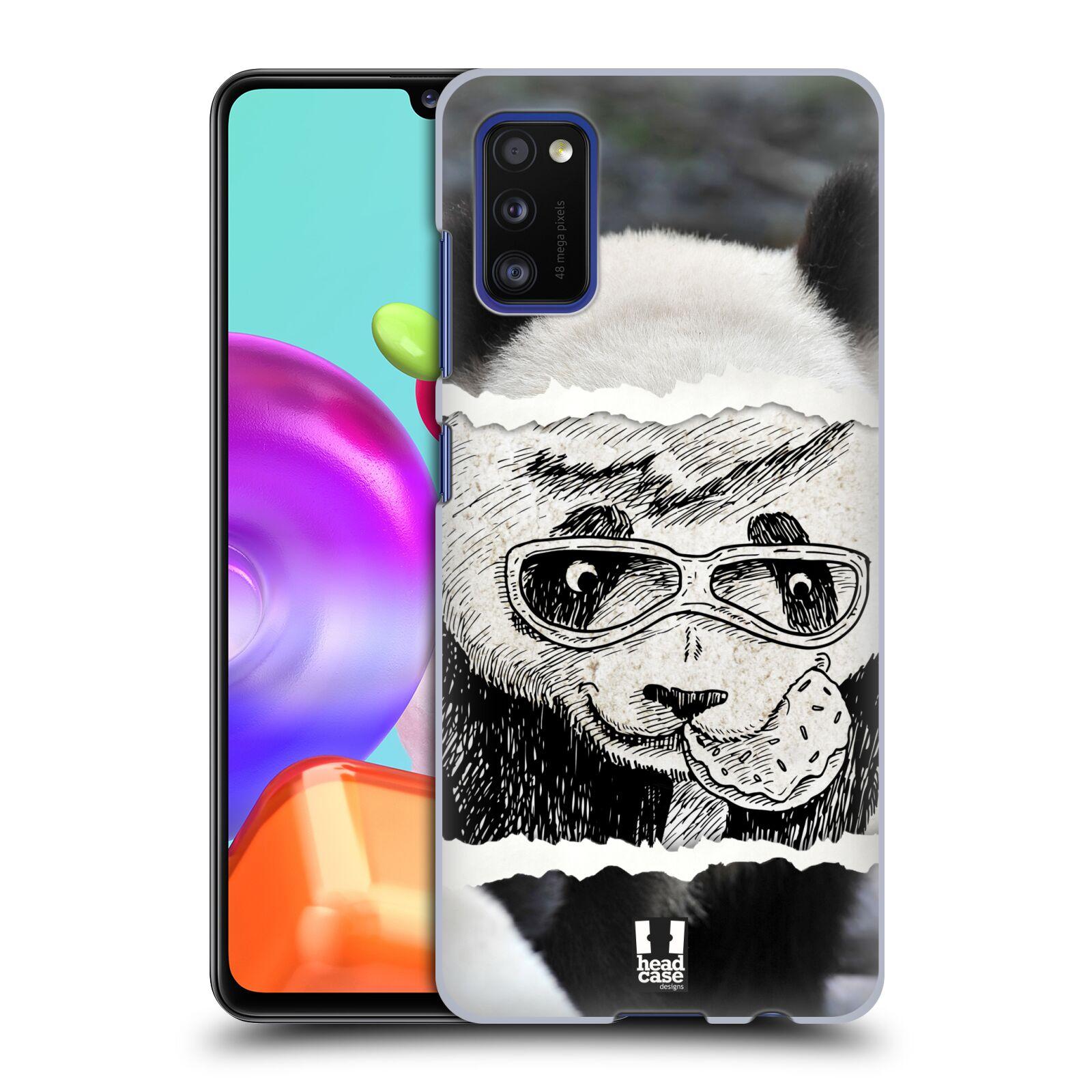 Zadní kryt na mobil Samsung Galaxy A41 vzor zvířata koláž roztomilá panda