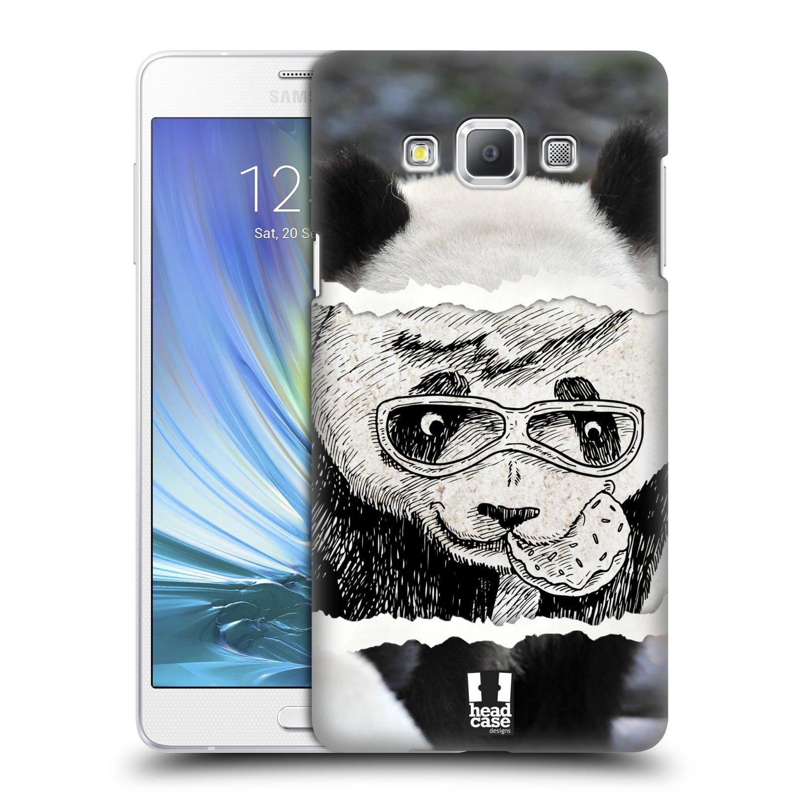 HEAD CASE plastový obal na mobil SAMSUNG GALAXY A7 vzor zvířata koláž roztomilá panda