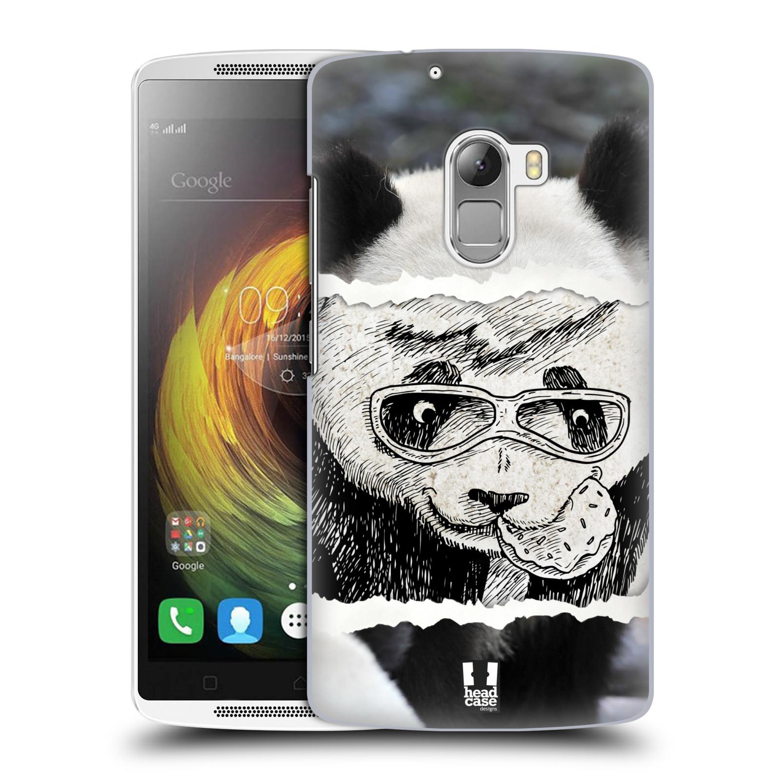 HEAD CASE pevný plastový obal na mobil LENOVO A7010 / A7010 DUAL / K4 Note / Vibe X3 lite vzor zvířata koláž roztomilá panda