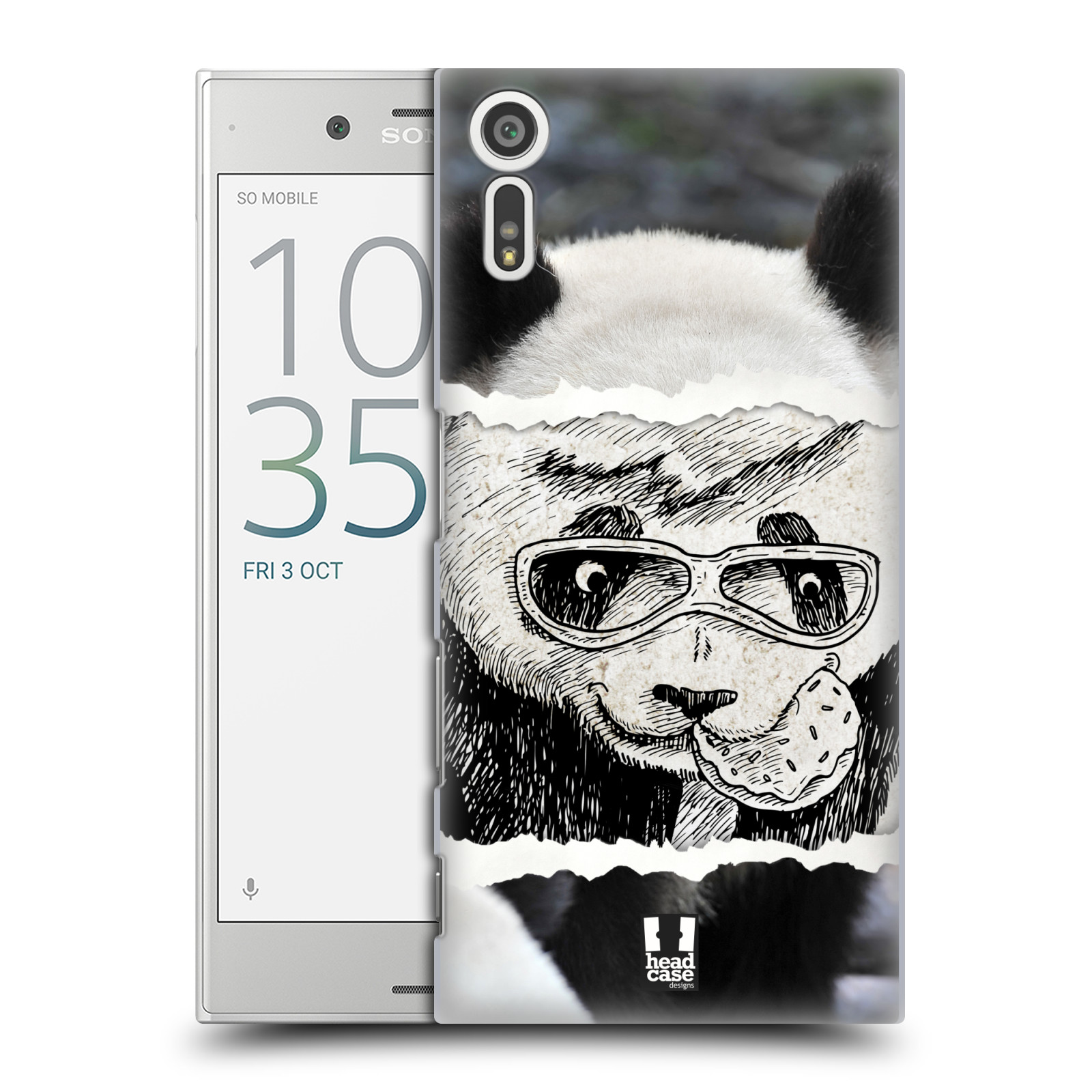 HEAD CASE plastový obal na mobil Sony Xperia XZ vzor zvířata koláž roztomilá panda
