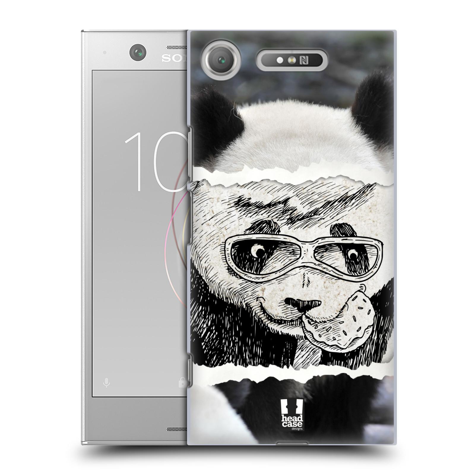 HEAD CASE plastový obal na mobil Sony Xperia XZ1 vzor zvířata koláž roztomilá panda