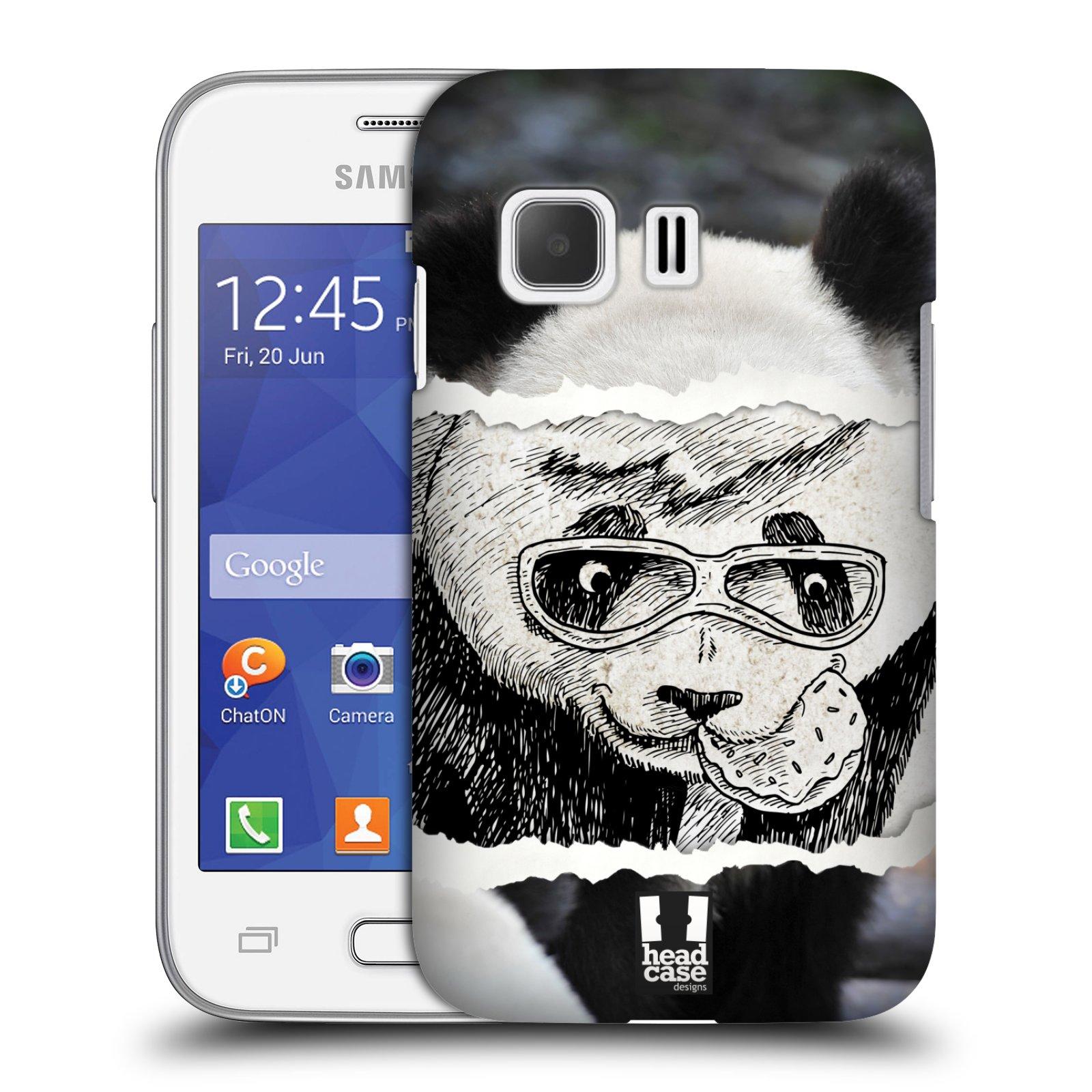 HEAD CASE plastový obal na mobil SAMSUNG Galaxy Young 2 (G130) vzor zvířata koláž roztomilá panda
