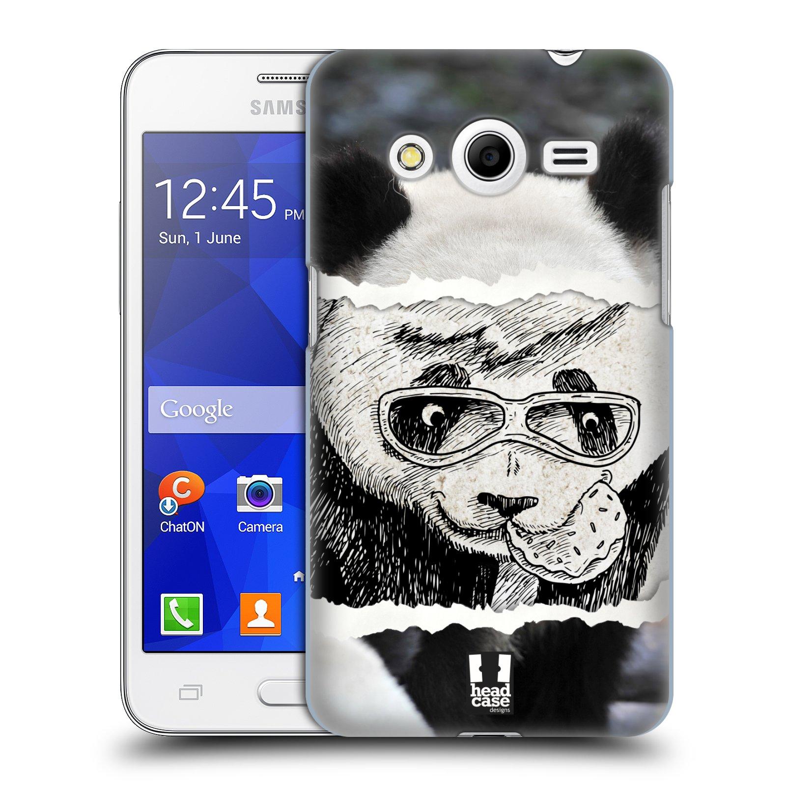 HEAD CASE plastový obal na mobil SAMSUNG GALAXY Core 2 (G355H) vzor zvířata koláž roztomilá panda