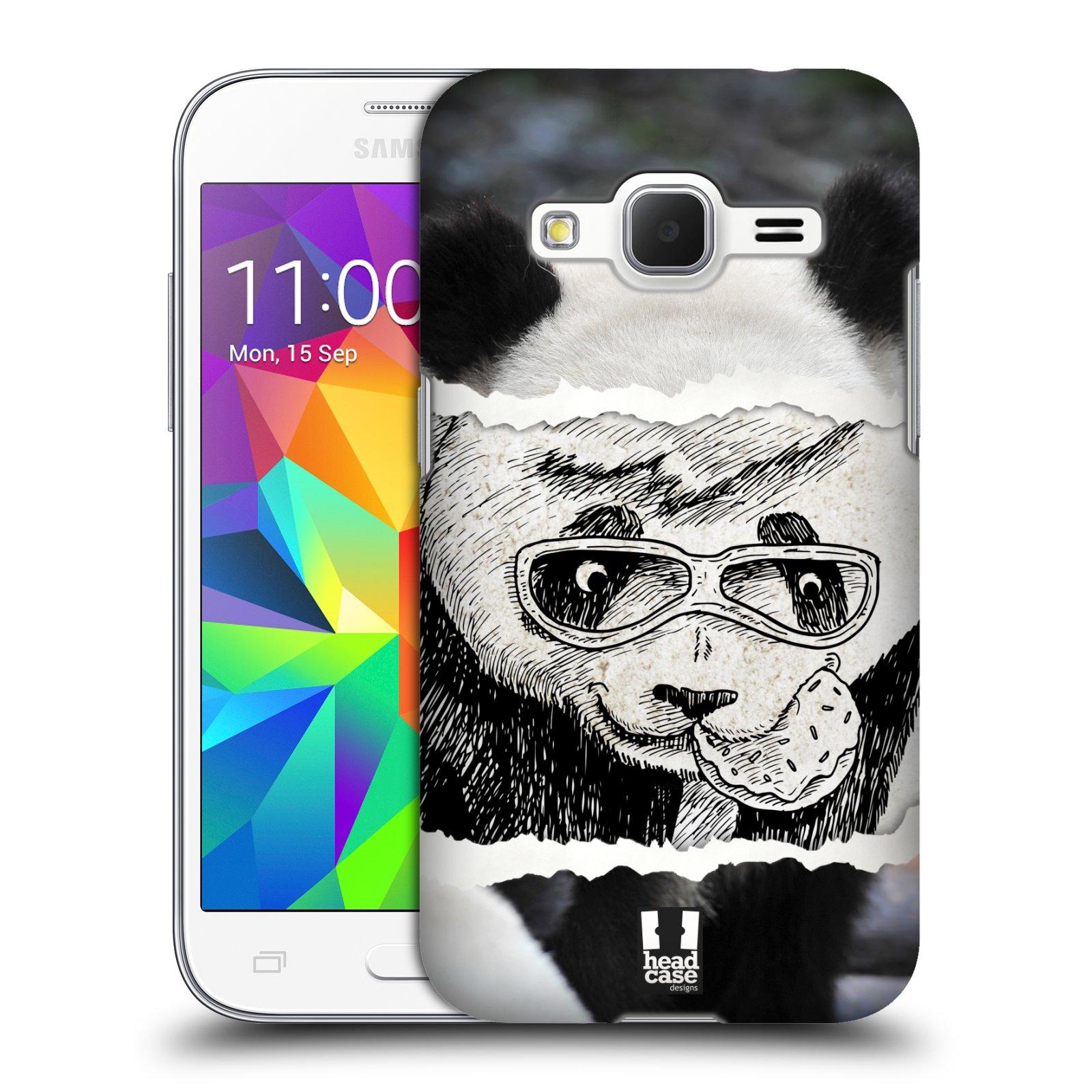 HEAD CASE plastový obal na mobil SAMSUNG GALAXY Core Prime (Core Prime VE) vzor zvířata koláž roztomilá panda