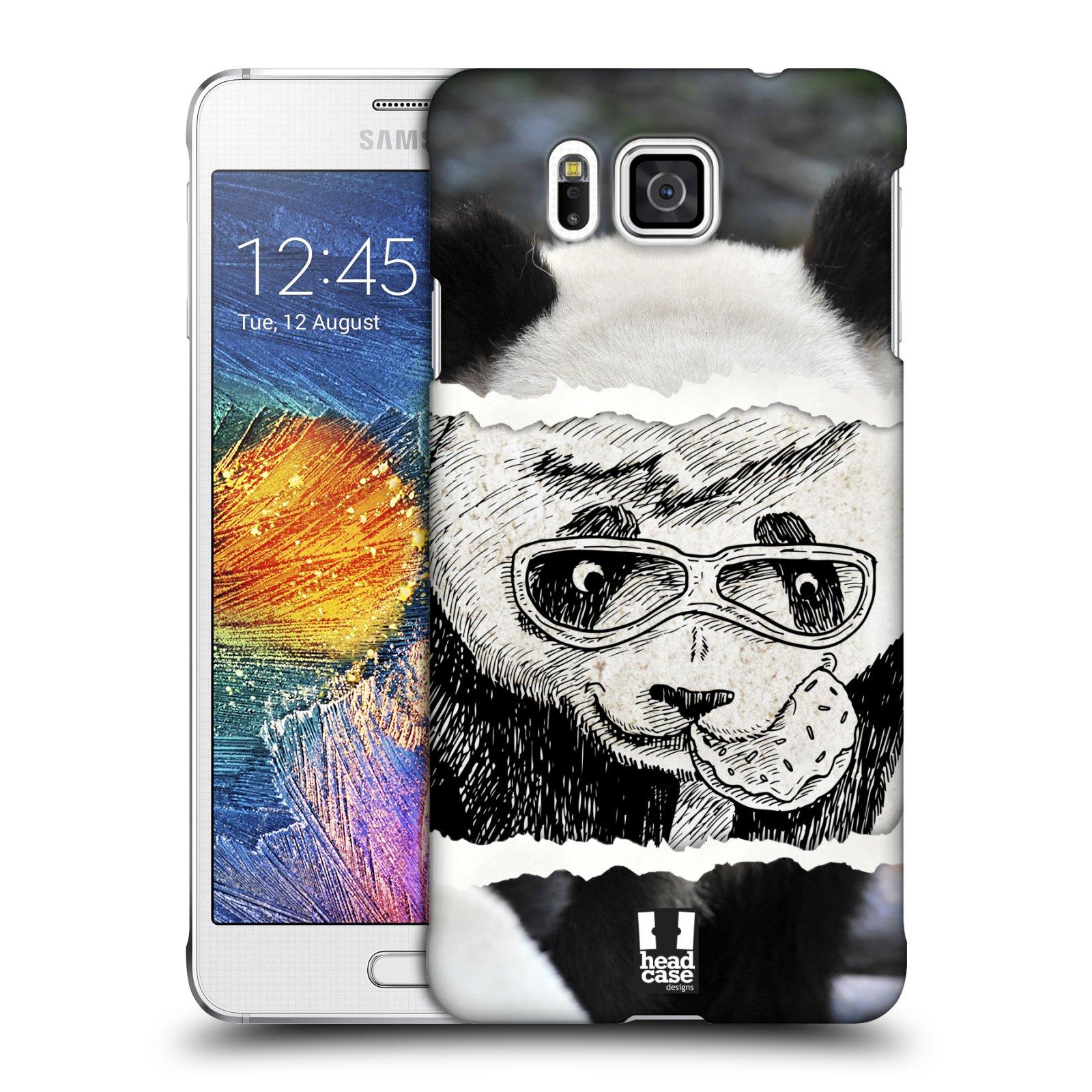 HEAD CASE plastový obal na mobil SAMSUNG Galaxy Alpha (G850) vzor zvířata koláž roztomilá panda
