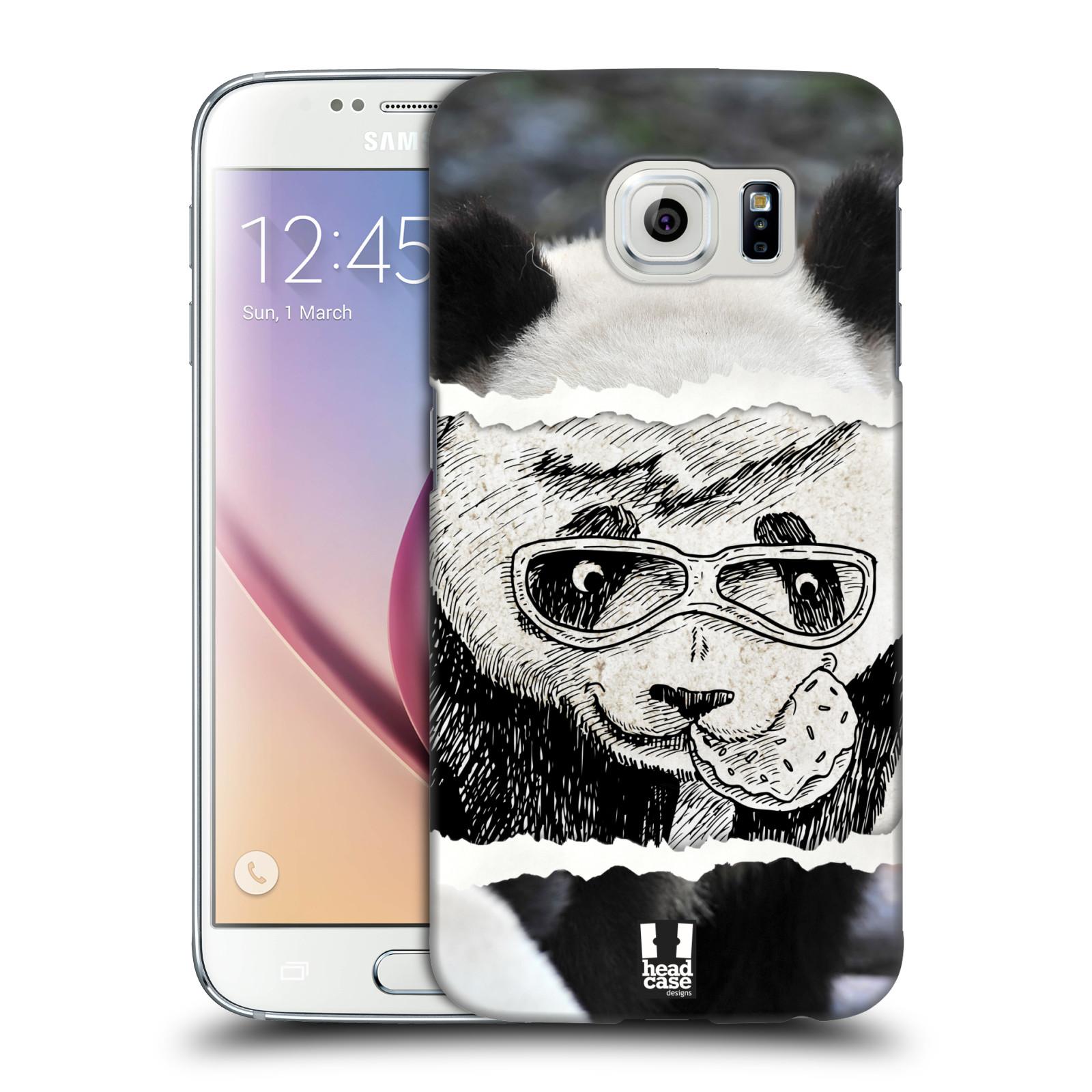 HEAD CASE plastový obal na mobil SAMSUNG Galaxy S6 (G9200, G920F) vzor zvířata koláž roztomilá panda