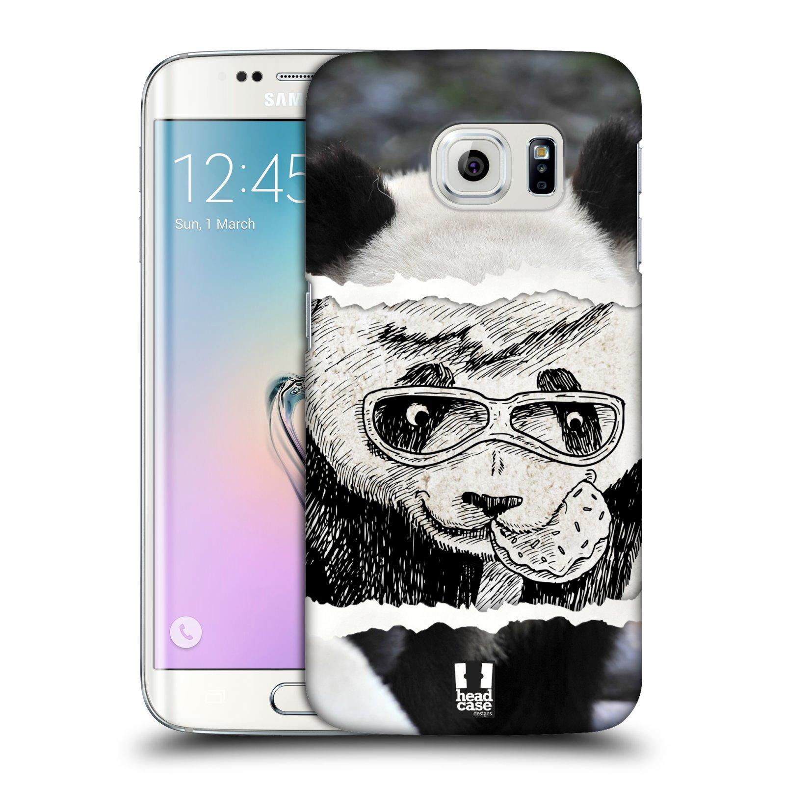 HEAD CASE plastový obal na mobil SAMSUNG Galaxy S6 EDGE (G9250, G925, G925F) vzor zvířata koláž roztomilá panda