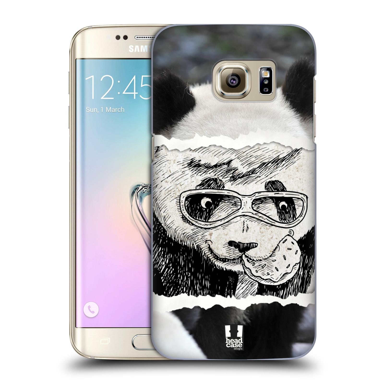 HEAD CASE plastový obal na mobil SAMSUNG GALAXY S7 EDGE vzor zvířata koláž roztomilá panda