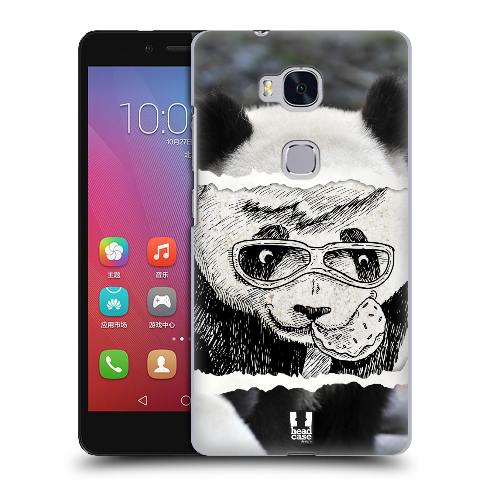 HEAD CASE pevný plastový obal na mobil HUAWEI HONOR 5X vzor zvířata koláž roztomilá panda