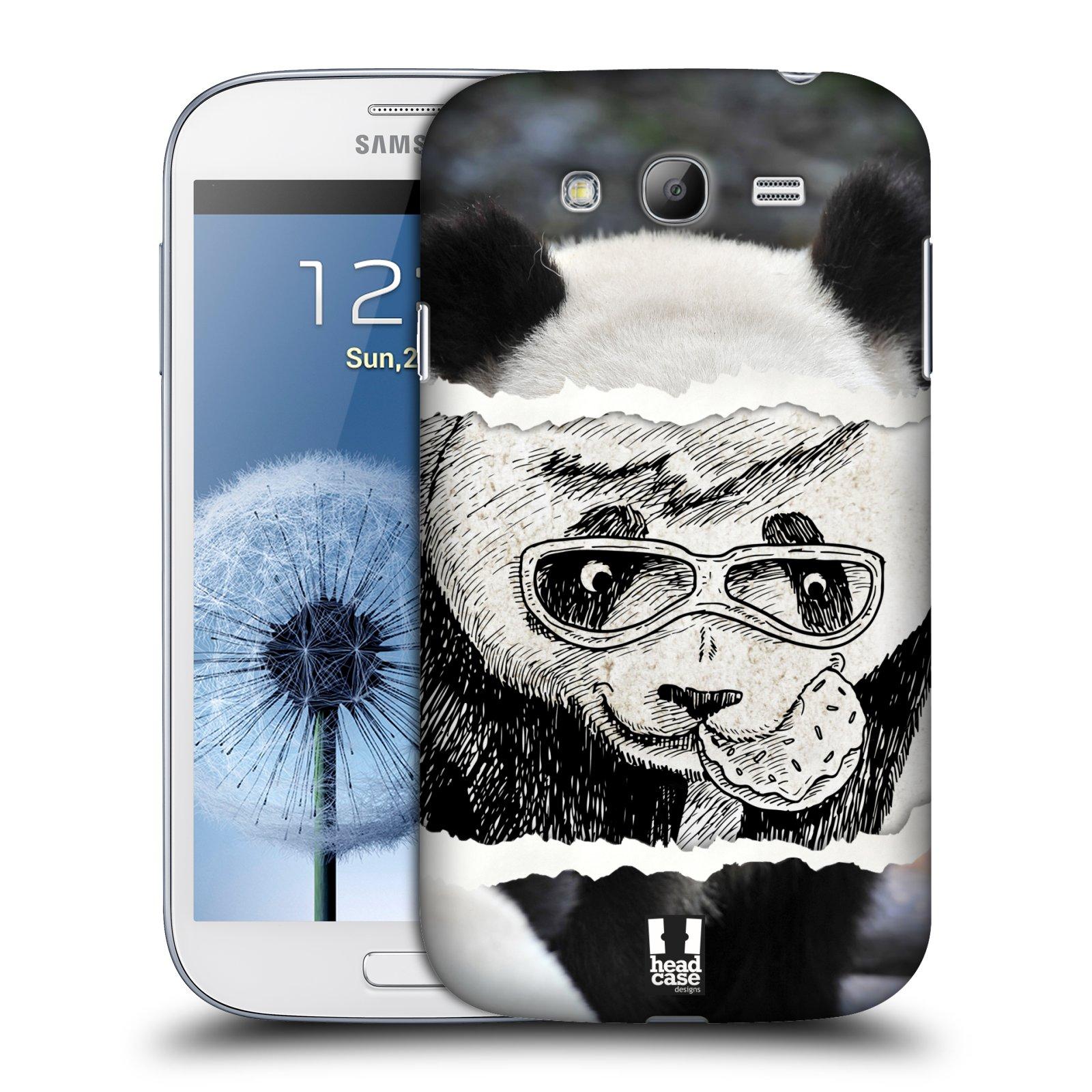 HEAD CASE plastový obal na mobil SAMSUNG GALAXY Grand i9080 vzor zvířata koláž roztomilá panda
