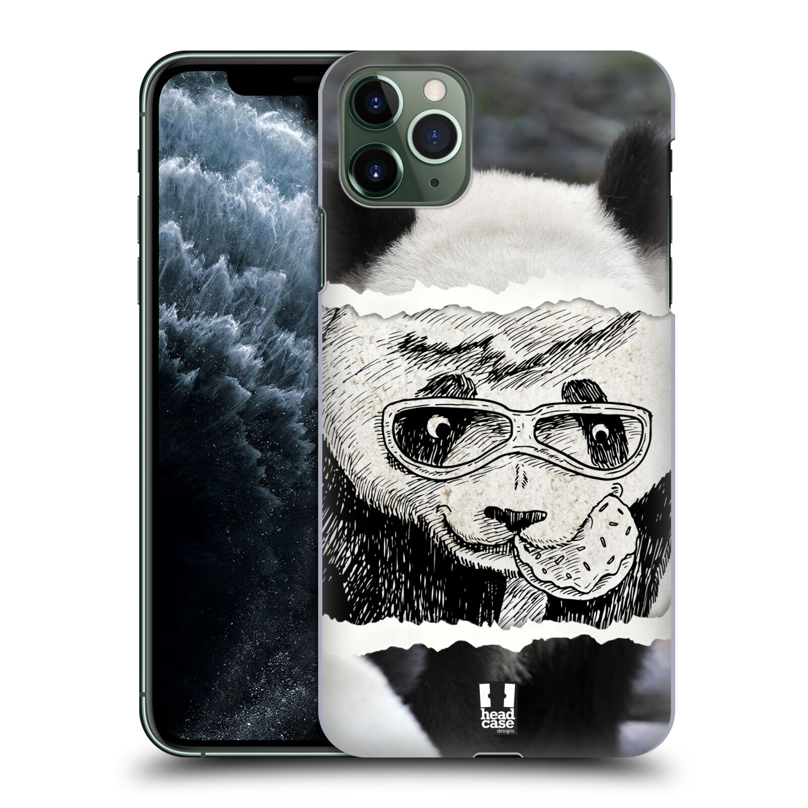 Pouzdro na mobil Apple Iphone 11 PRO MAX - HEAD CASE - vzor zvířata koláž roztomilá panda