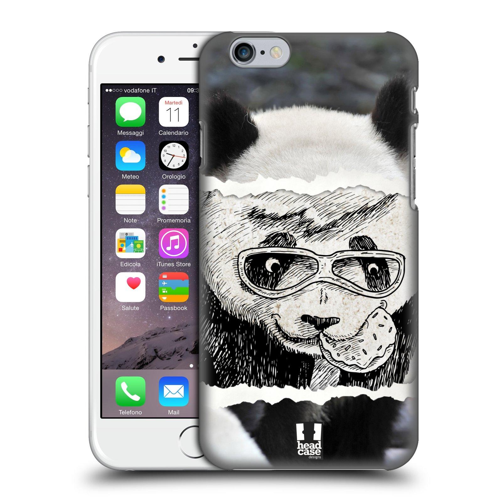 Plastové pouzdro pro mobil Apple Iphone 6/6S vzor zvířata koláž roztomilá panda