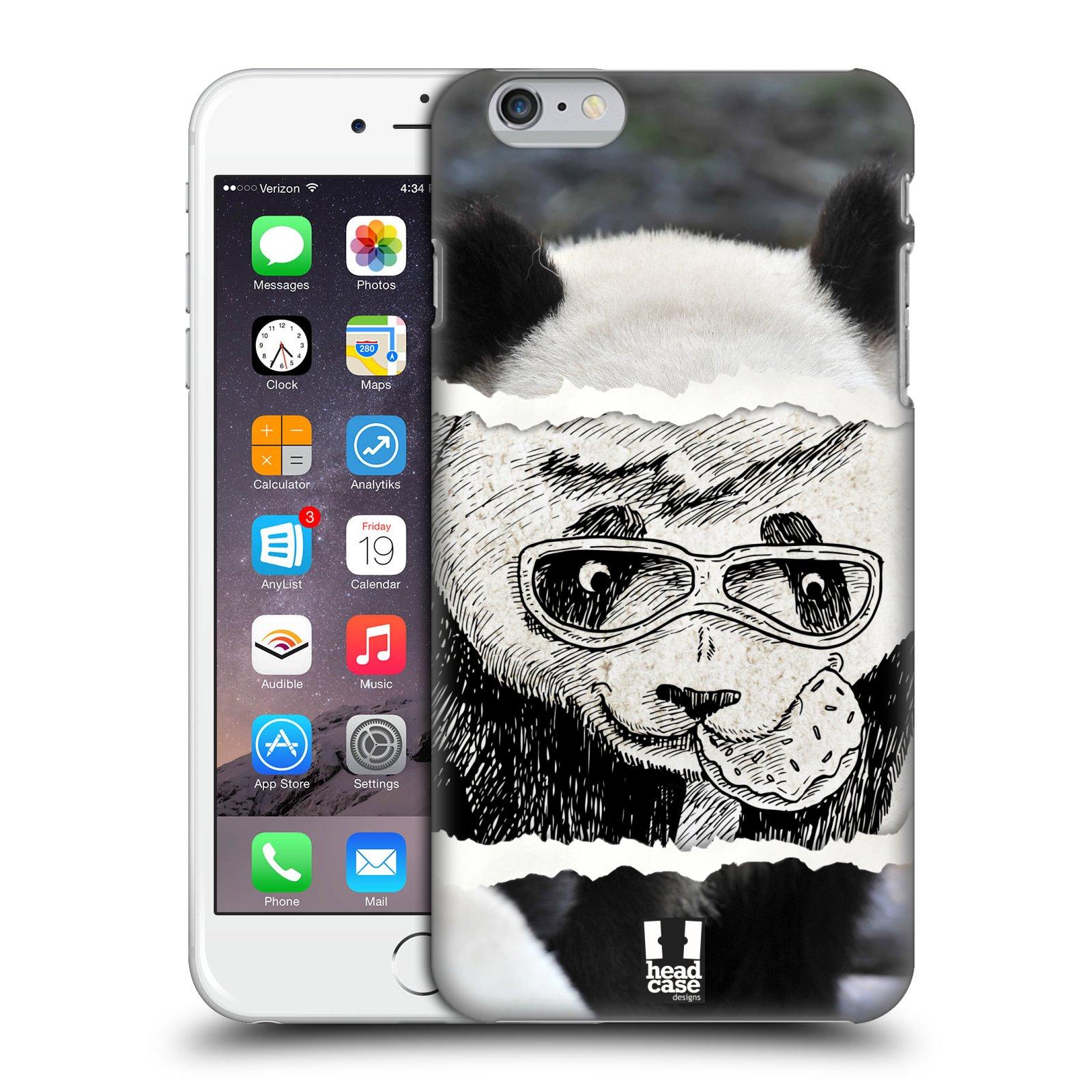 Plastové pouzdro pro mobil Apple Iphone 6 PLUS / 6S PLUS vzor zvířata koláž roztomilá panda
