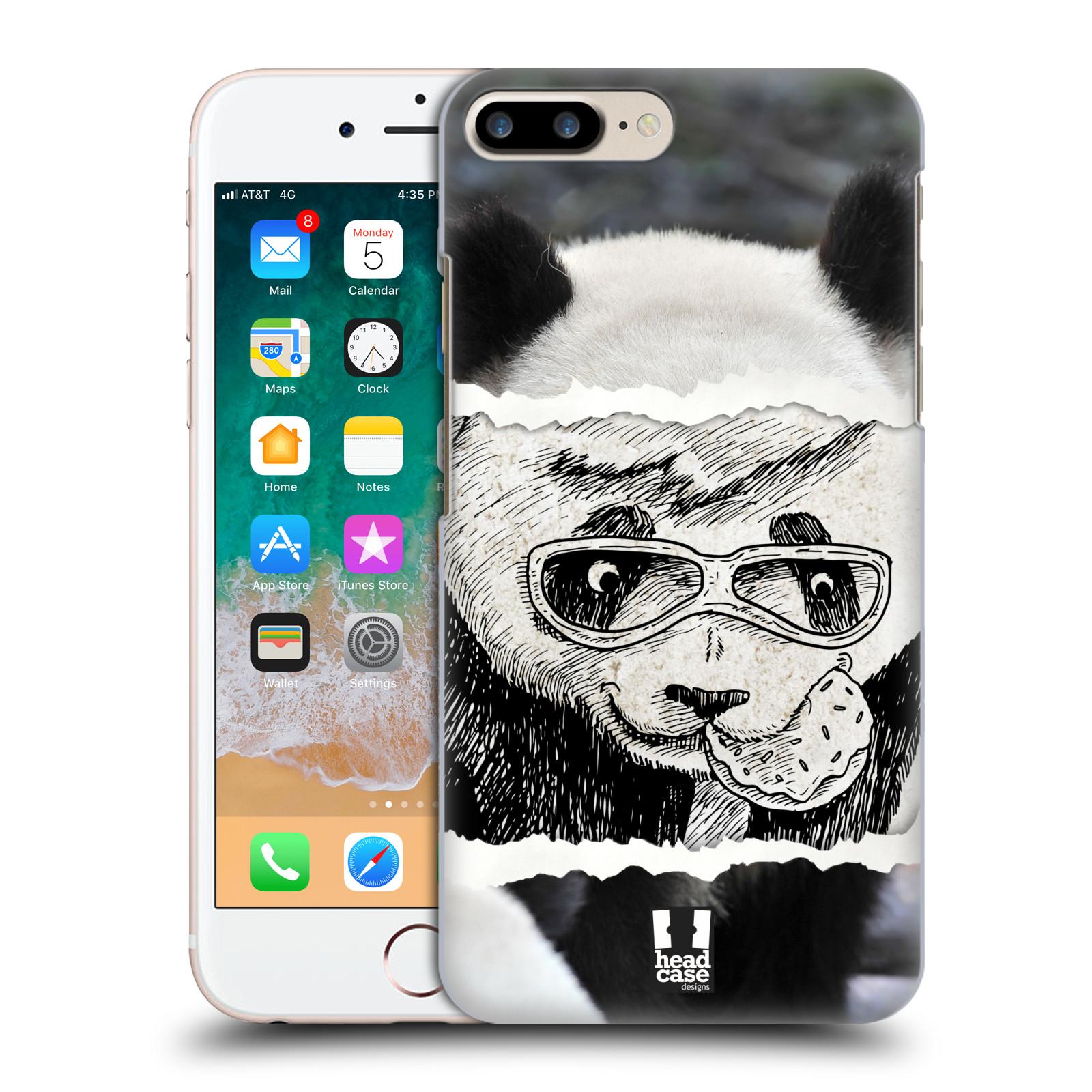 HEAD CASE plastový obal na mobil Apple Iphone 7 PLUS vzor zvířata koláž roztomilá panda
