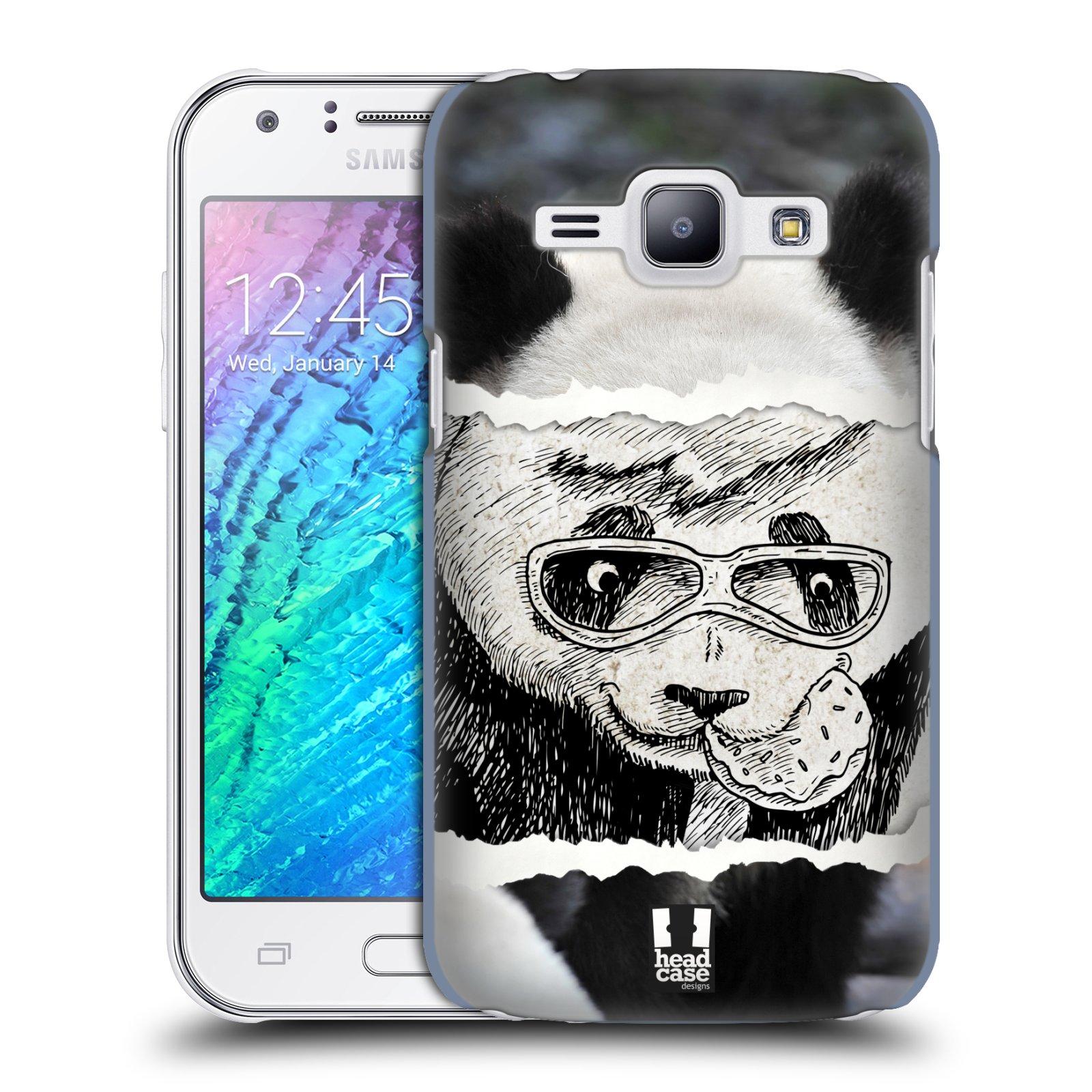 HEAD CASE plastový obal na mobil SAMSUNG Galaxy J1, J100 vzor zvířata koláž roztomilá panda