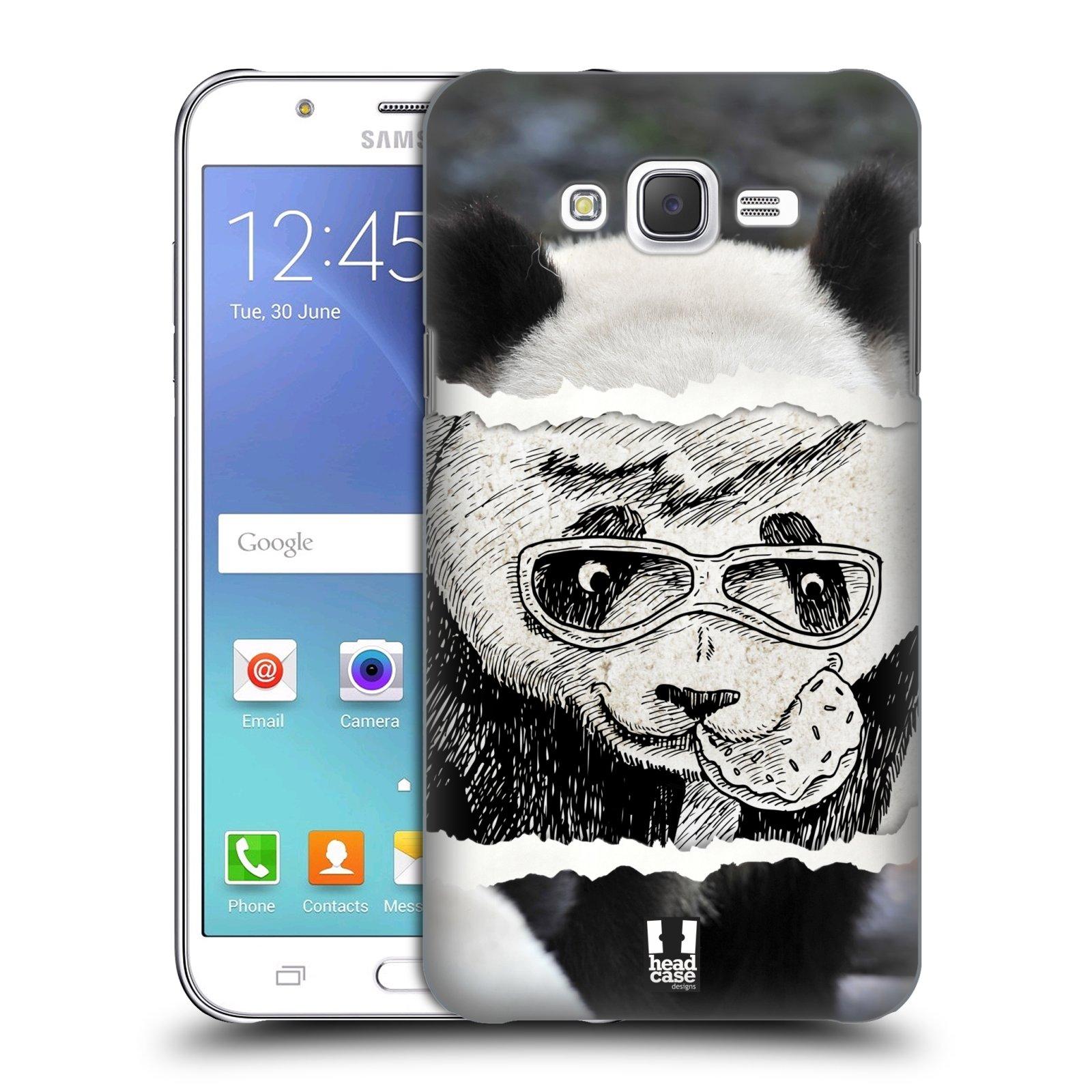 HEAD CASE plastový obal na mobil SAMSUNG Galaxy J7, J700 vzor zvířata koláž roztomilá panda