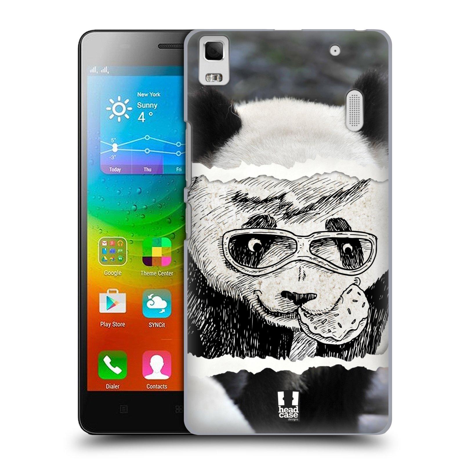 HEAD CASE pevný plastový obal na mobil LENOVO A7000 / A7000 DUAL / K3 NOTE vzor zvířata koláž roztomilá panda